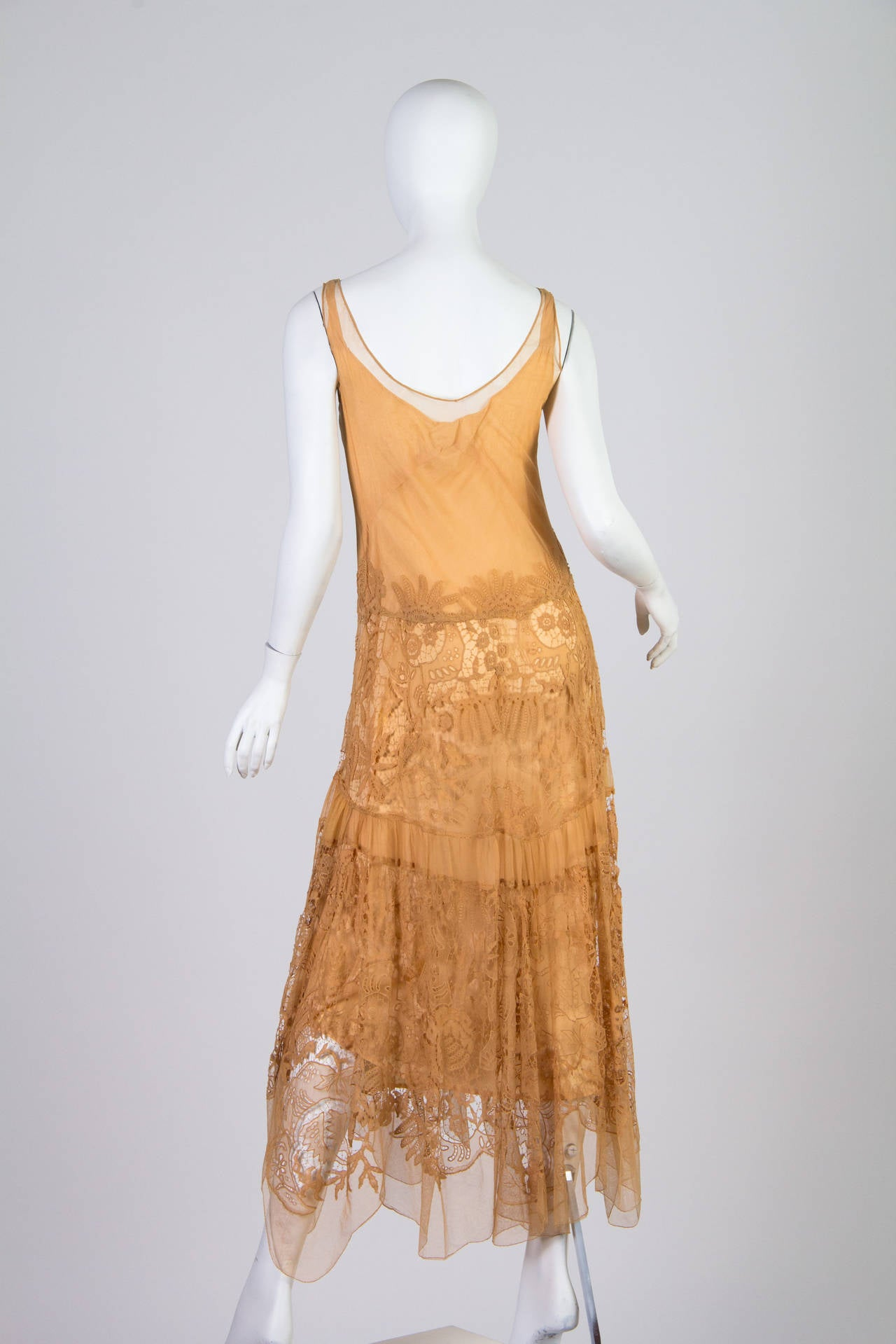 Late 1920s Lace and Net Dress 4