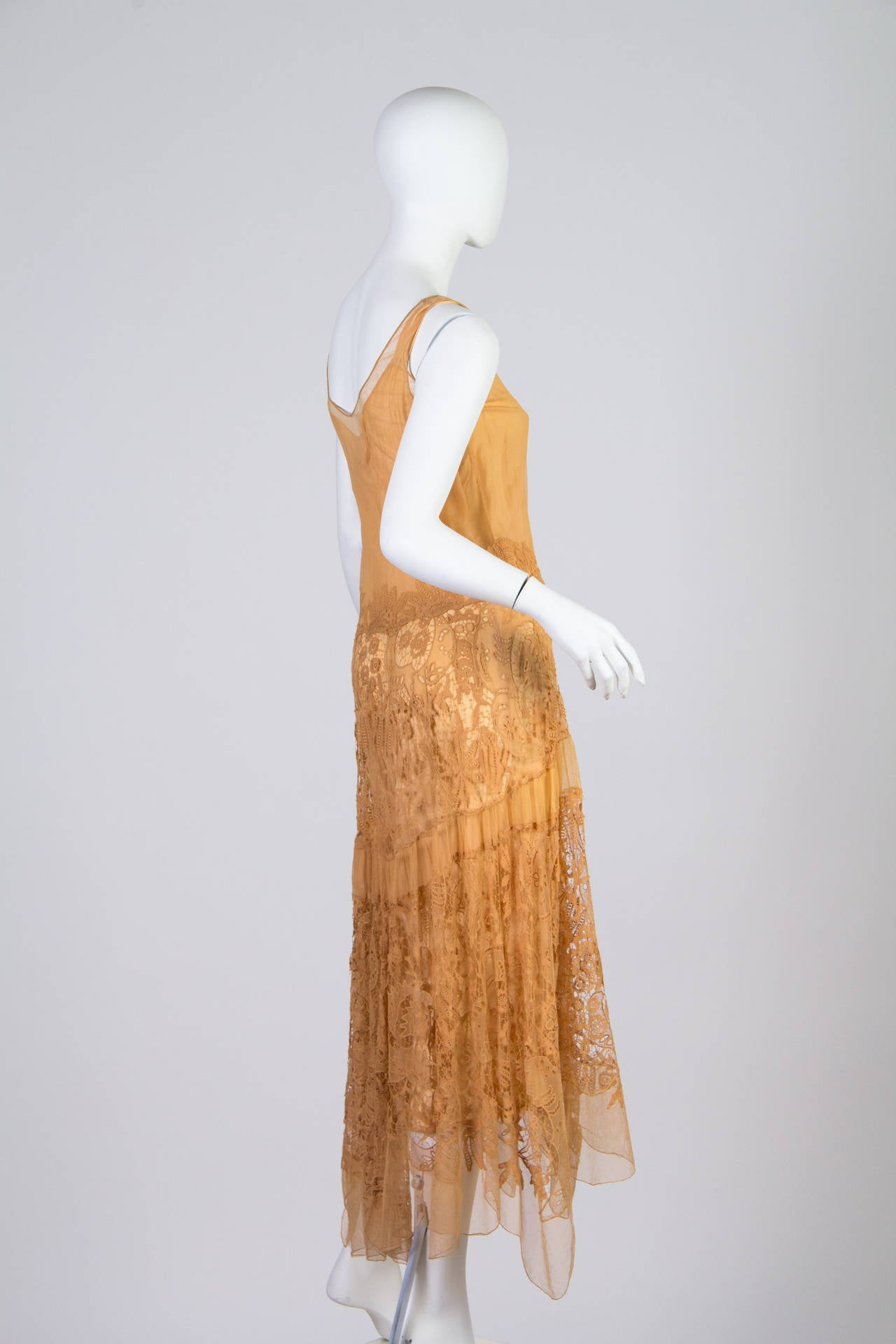 Late 1920s Lace and Net Dress 3