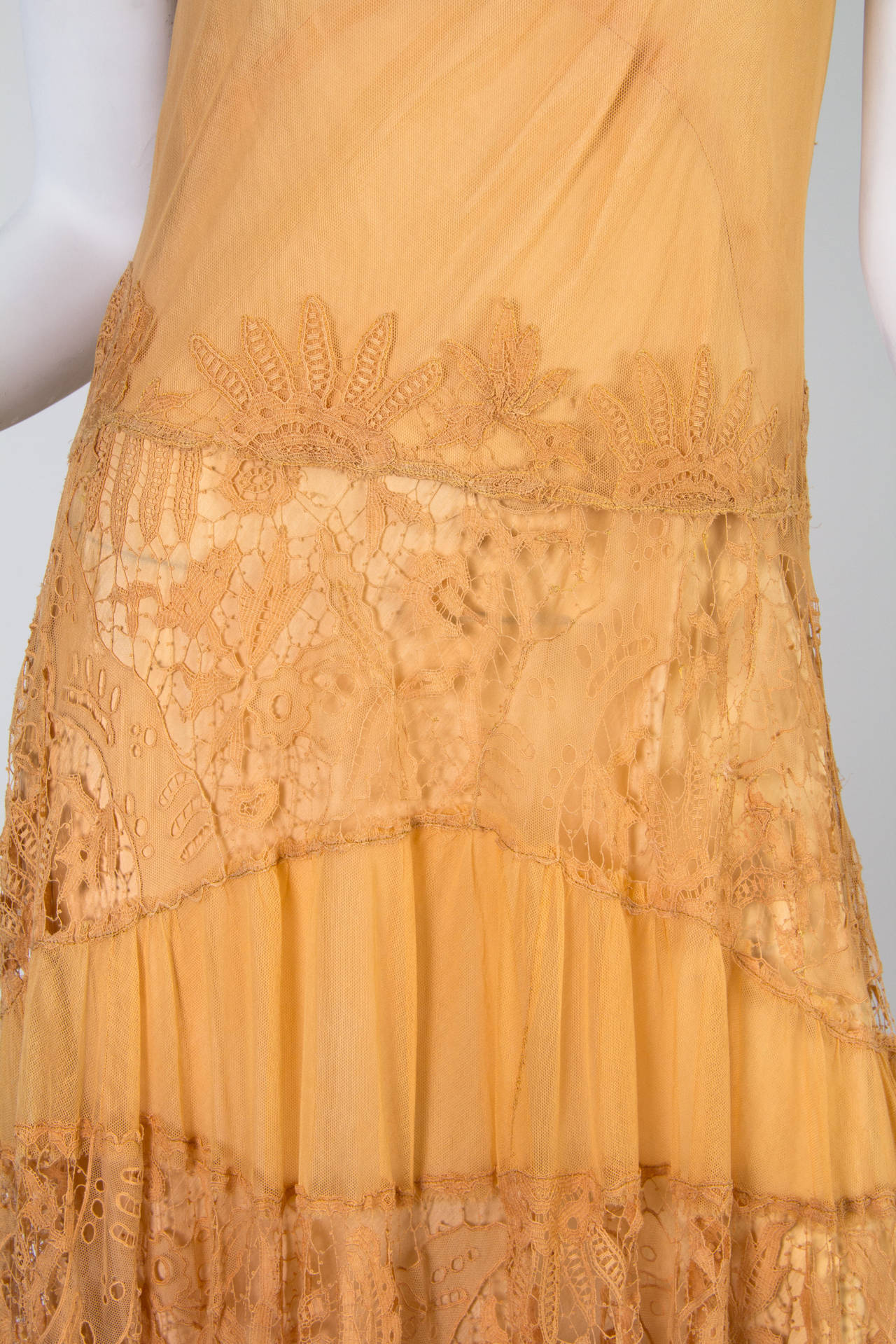 Late 1920s Lace and Net Dress 5
