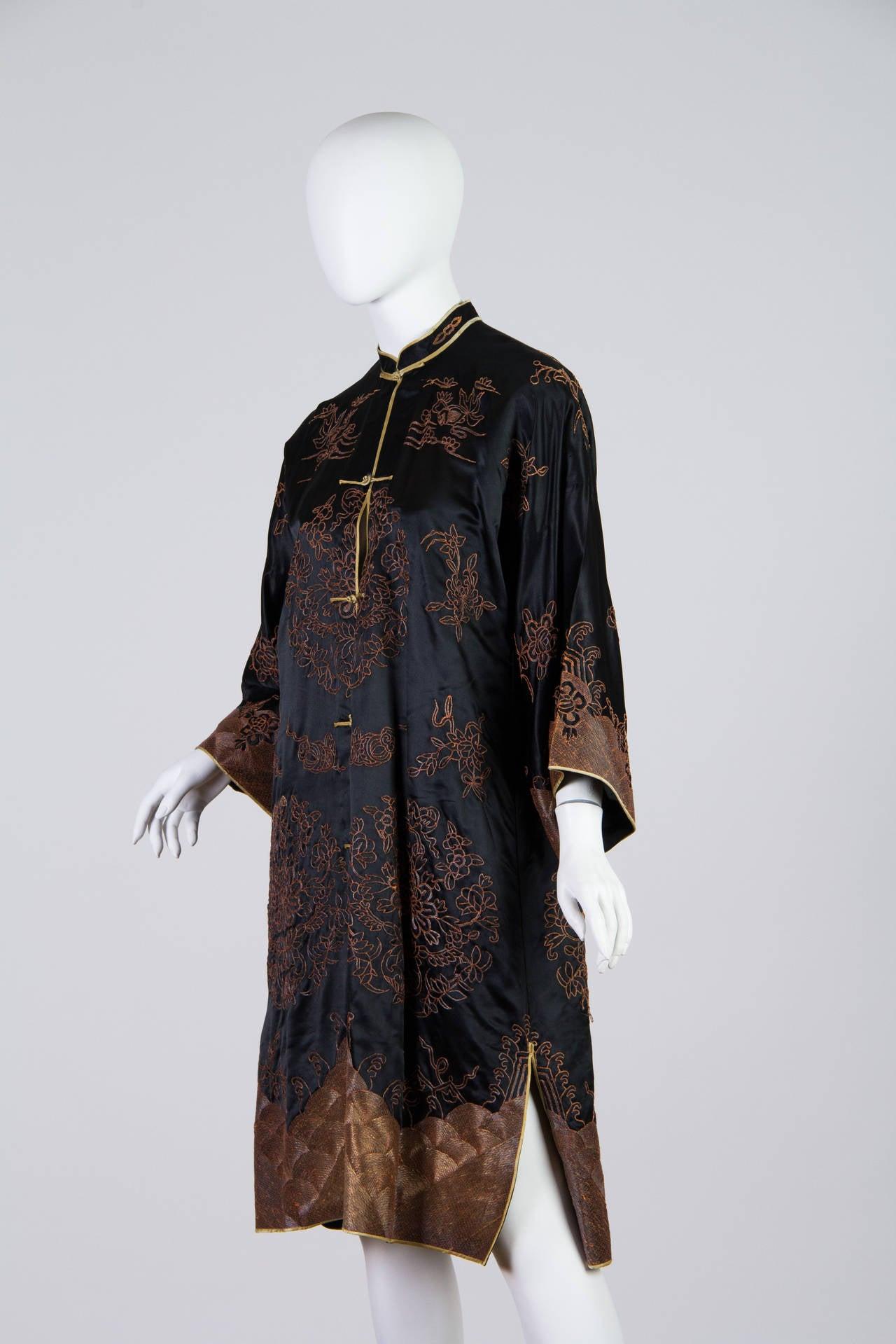 Early Chinese Embroidered Jacket Kimono style 3