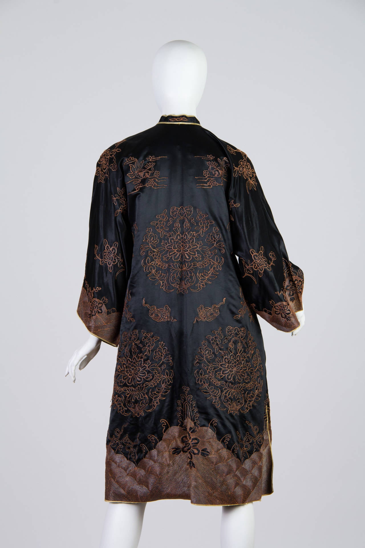 Early Chinese Embroidered Jacket Kimono Style For Sale At