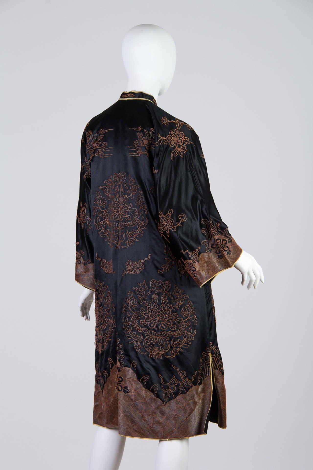 Early Chinese Embroidered Jacket Kimono style 2