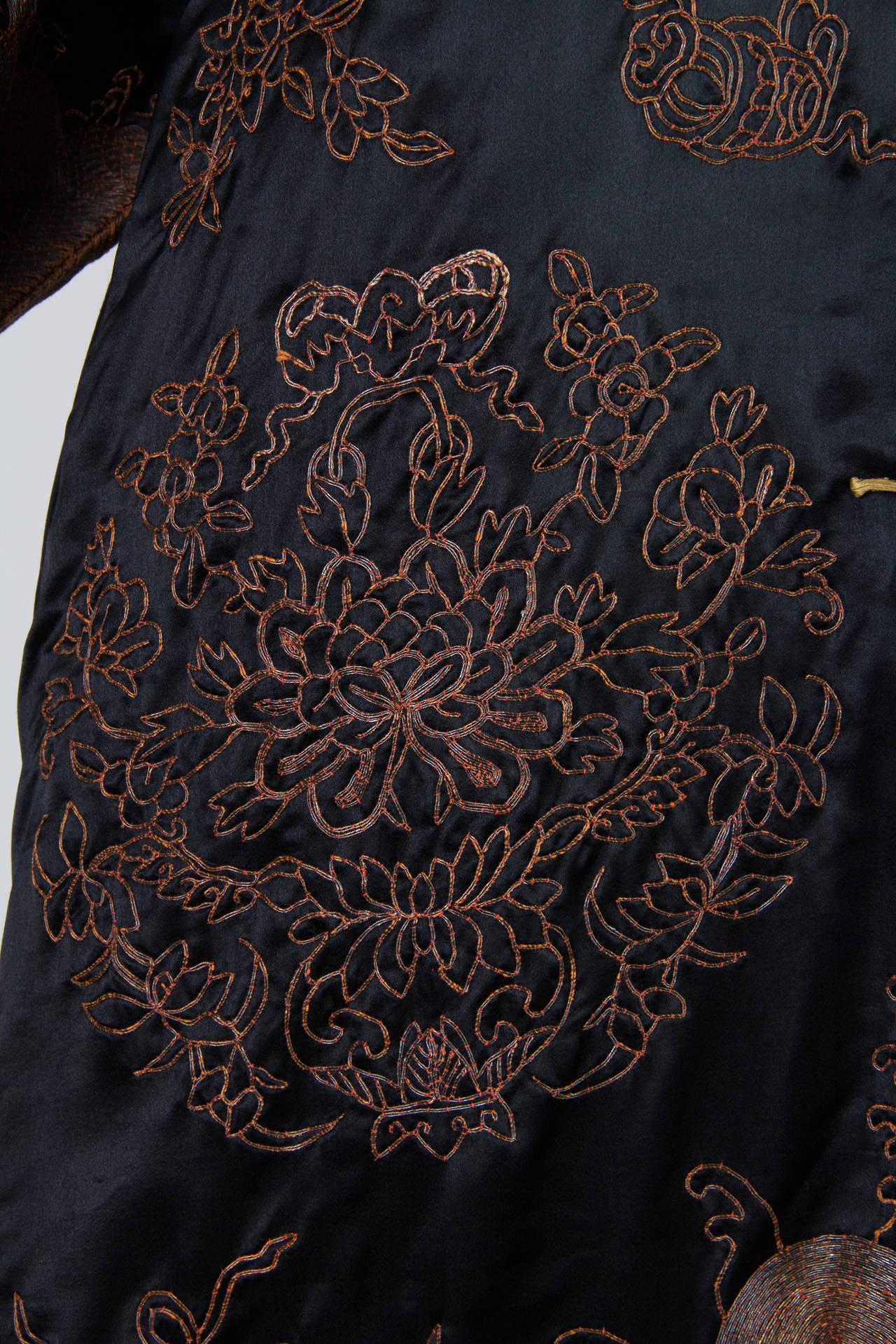 Early Chinese Embroidered Jacket Kimono style 6
