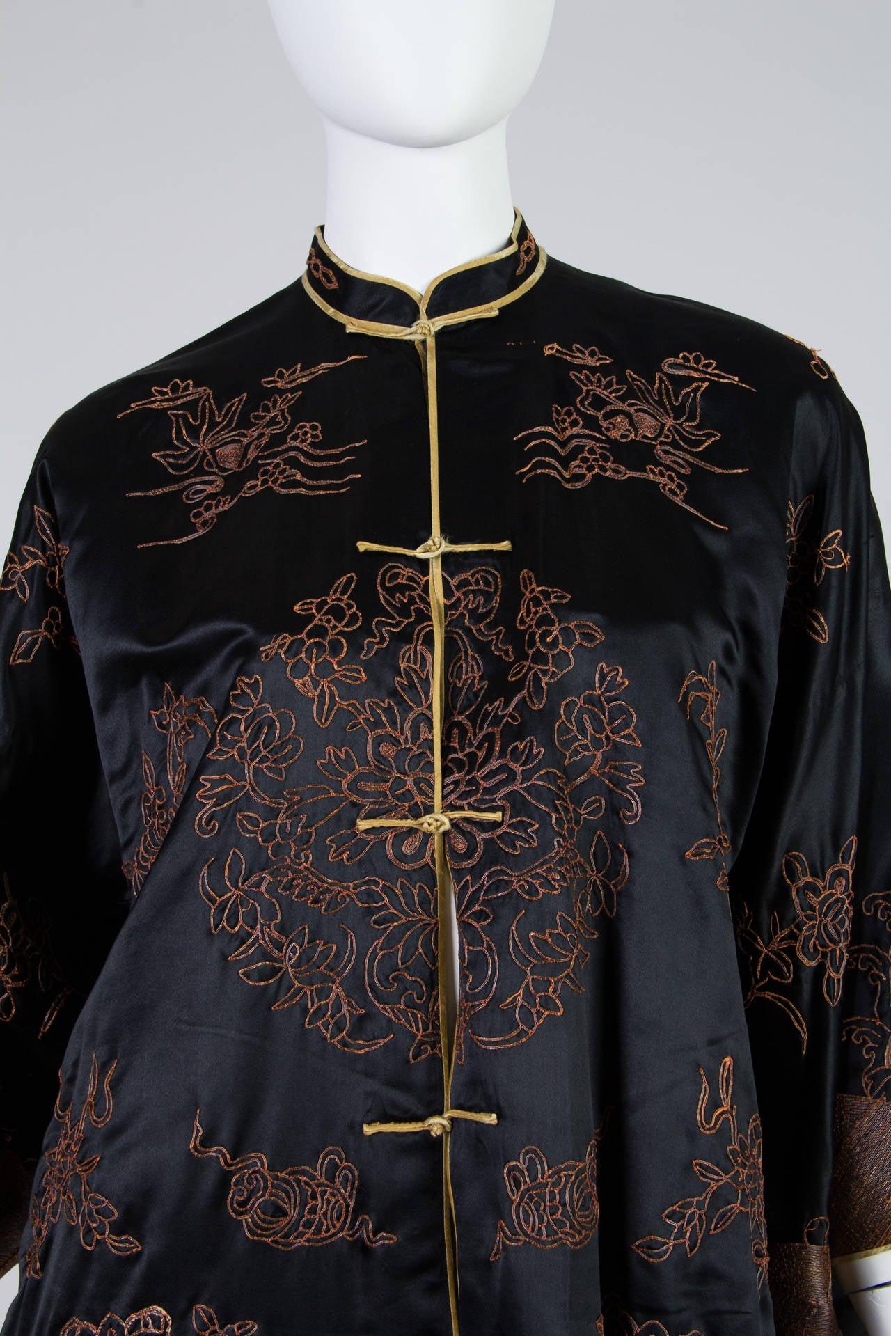 Early Chinese Embroidered Jacket Kimono style 5