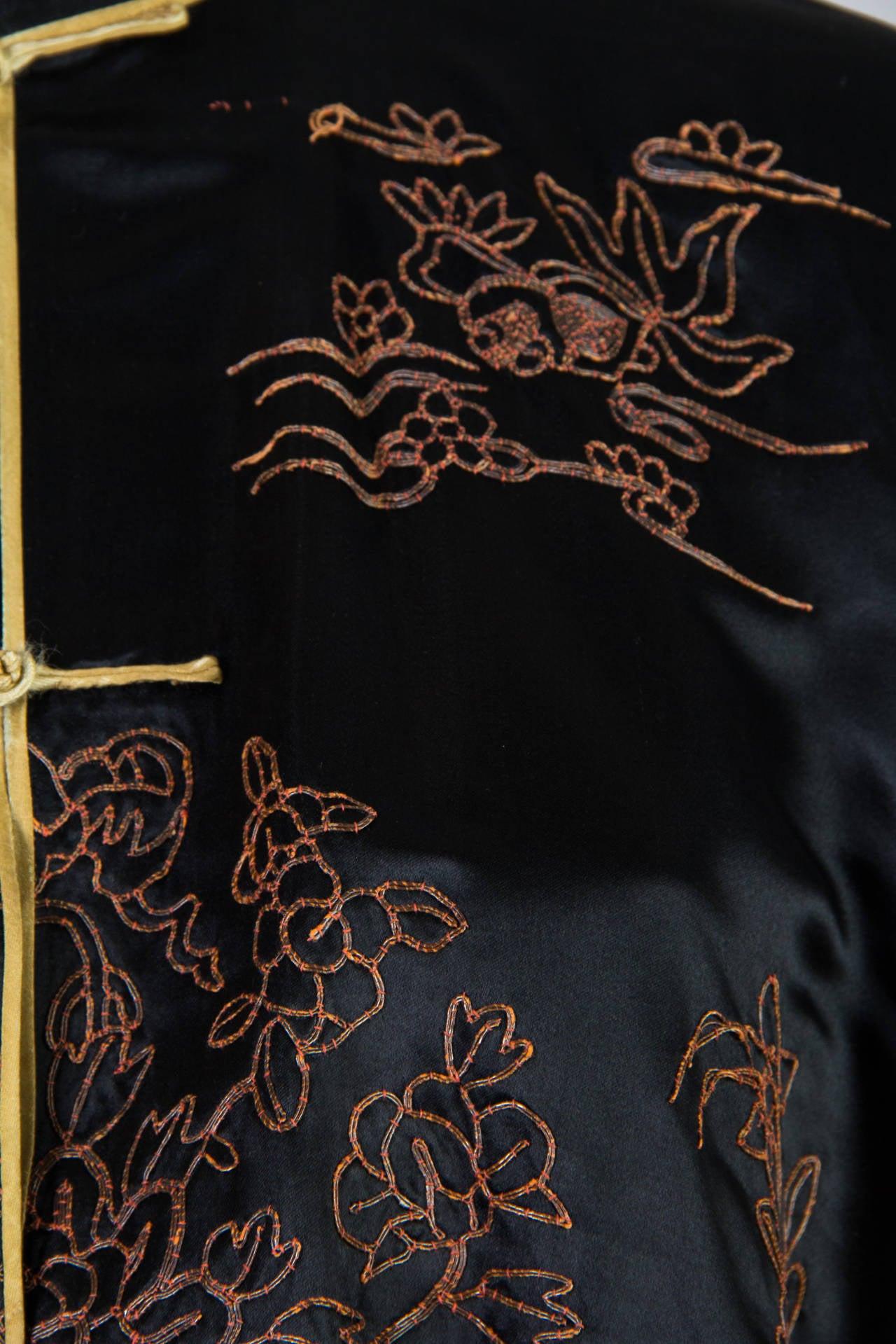 Early Chinese Embroidered Jacket Kimono style 9