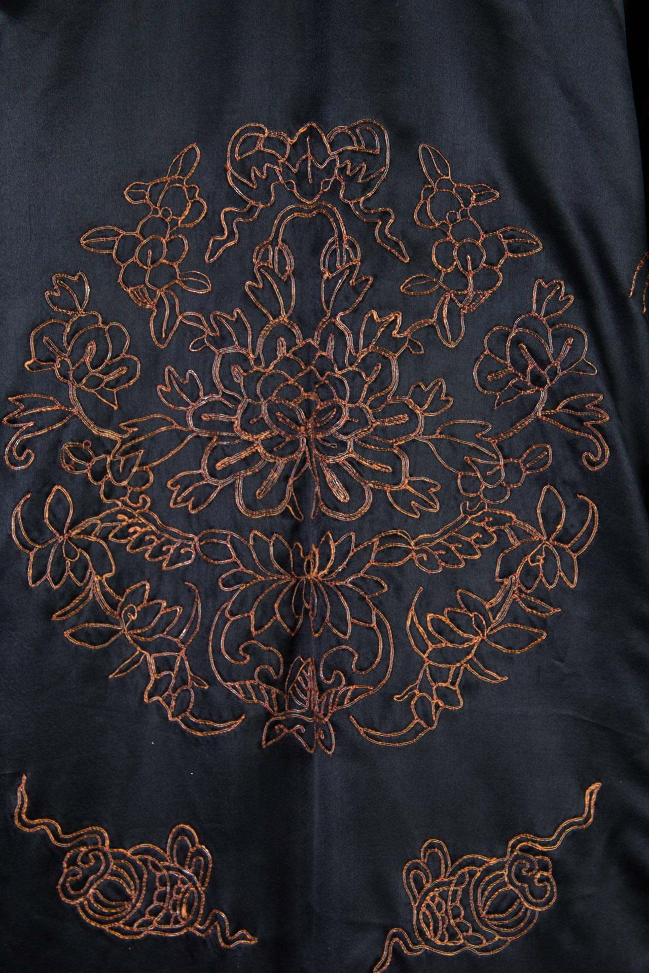 Early Chinese Embroidered Jacket Kimono style 10