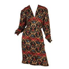 1970s Hermés Silk Dress