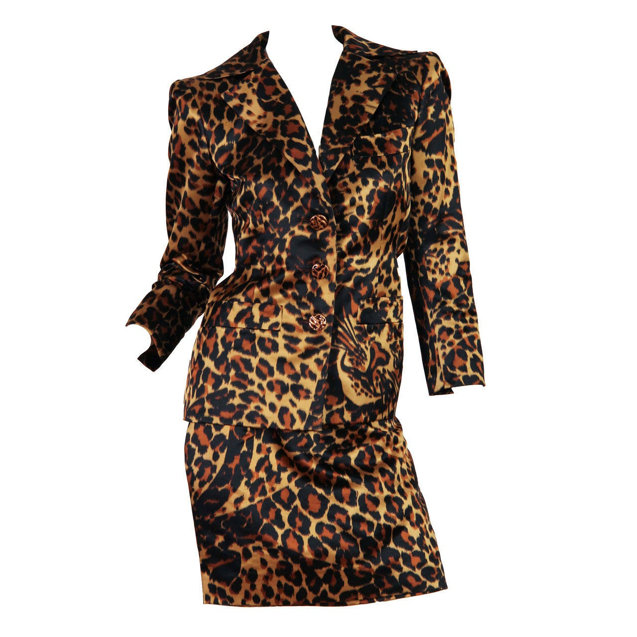 Yves Saint Laurent Documented Haute Couture Leopard Suit