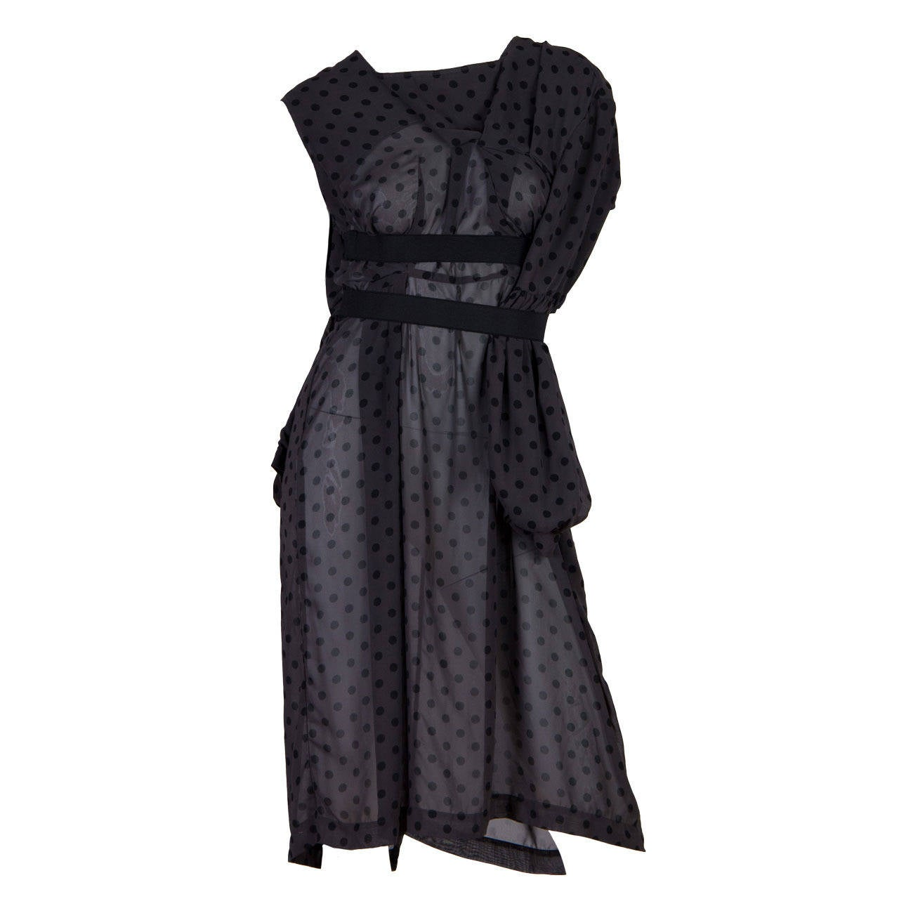 Comme des Garcons Deconstructed Chiffon Dress
