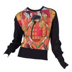 Hermès Matador Scarf Print Pullover