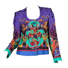 1990s Gianni Versace Linen Jacket