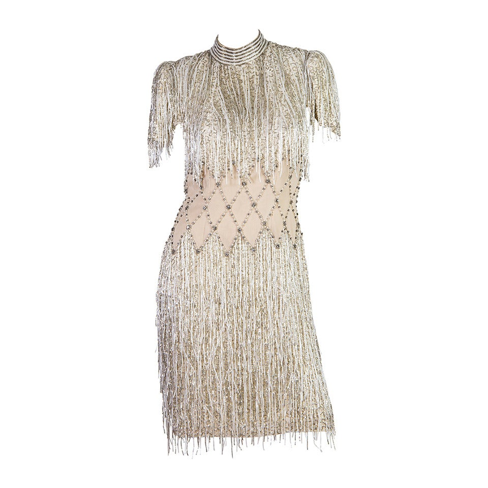 Spectacular Beaded Fringe Dress 1