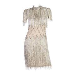 Spectacular Beaded Fringe Dress