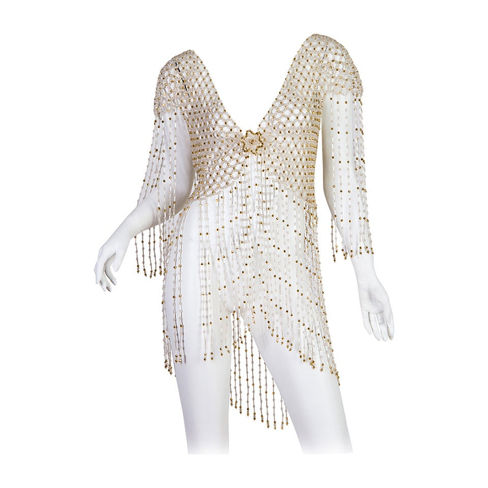 Amazing 1960s Beaded Fringe Jacket