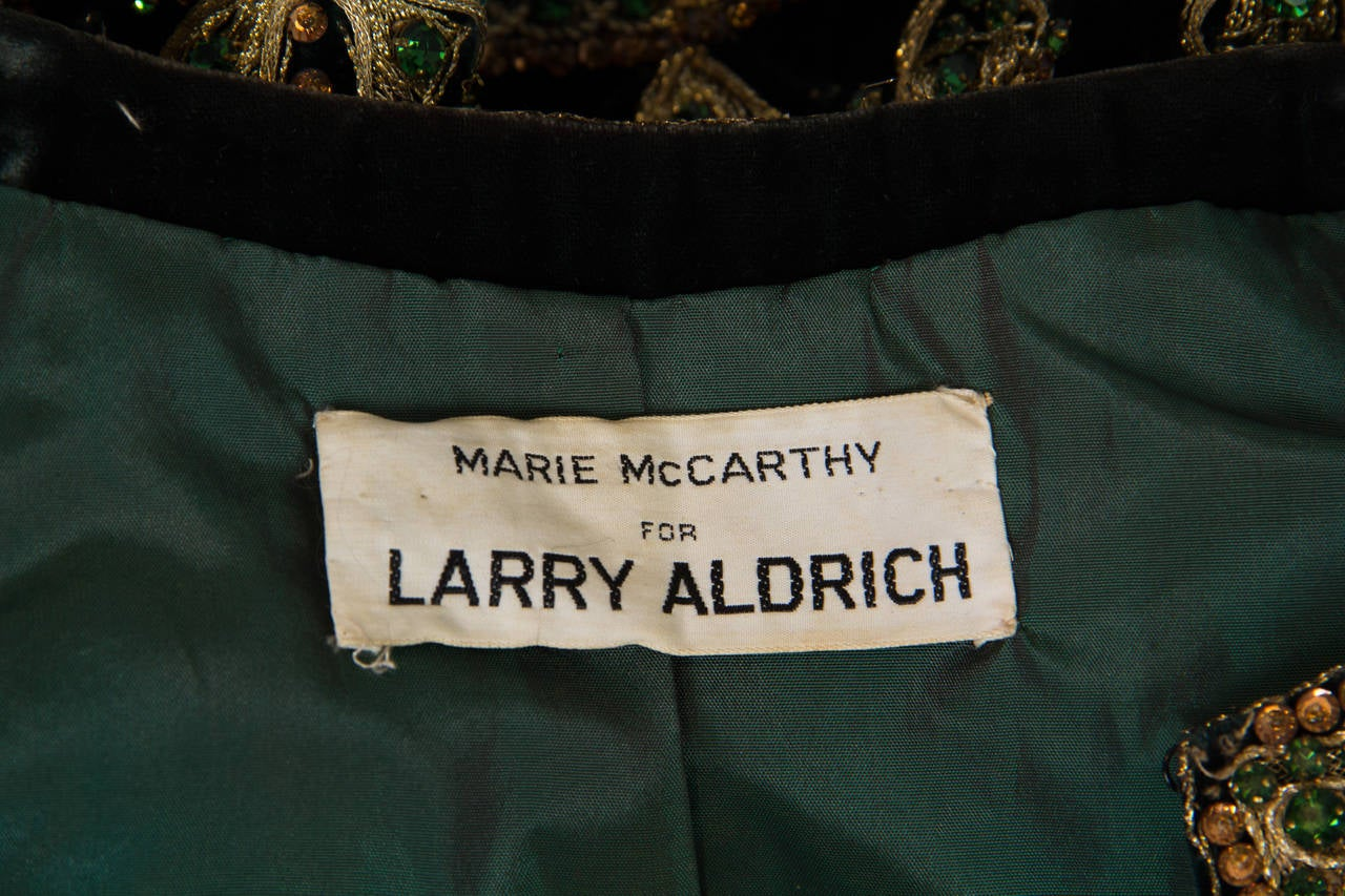 1960s Jeweled Velvet Marie McCarthy for Larry Aldrich Vest 10