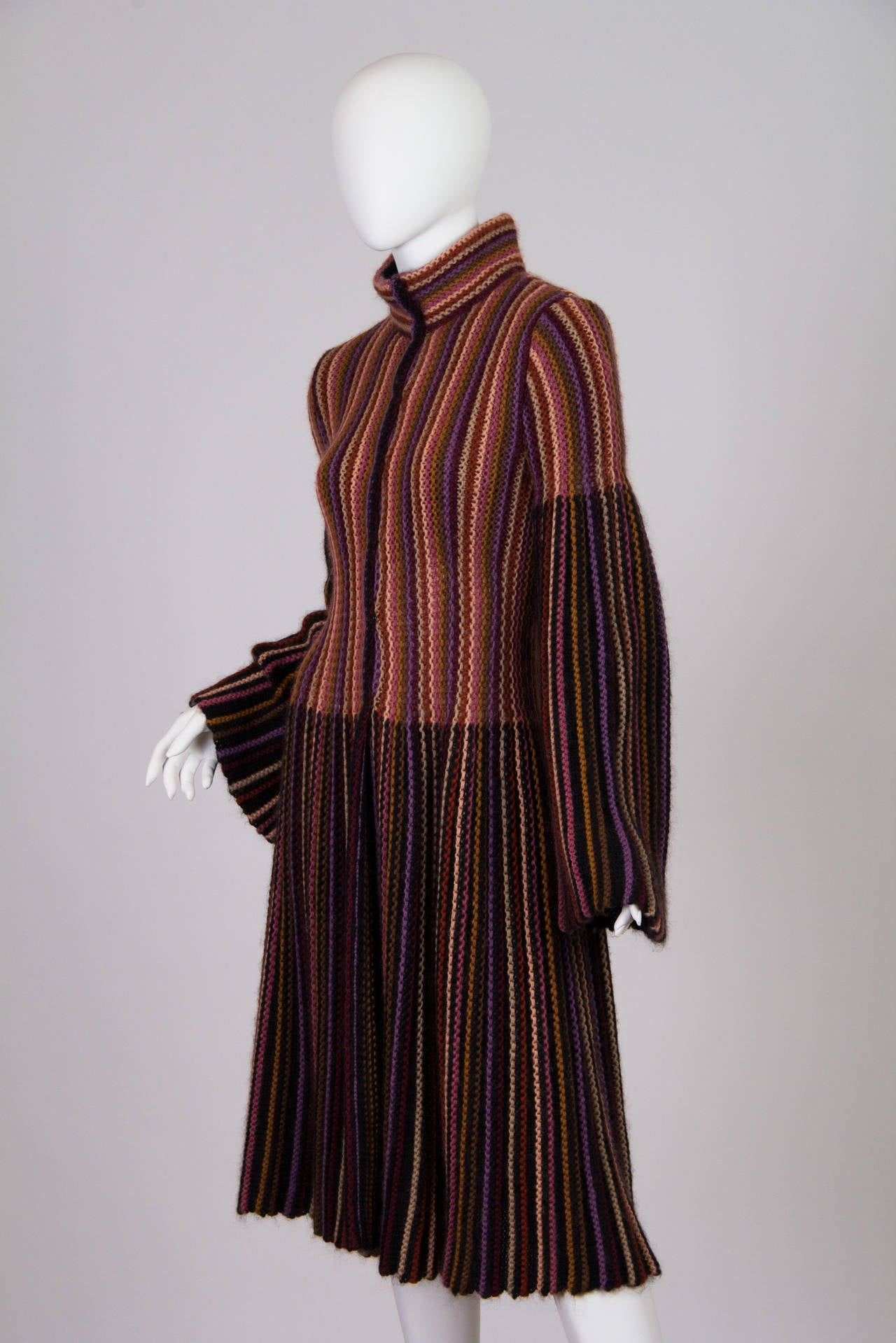 Blanket soft Missoni Mohair and Wool Knit Coat. 2