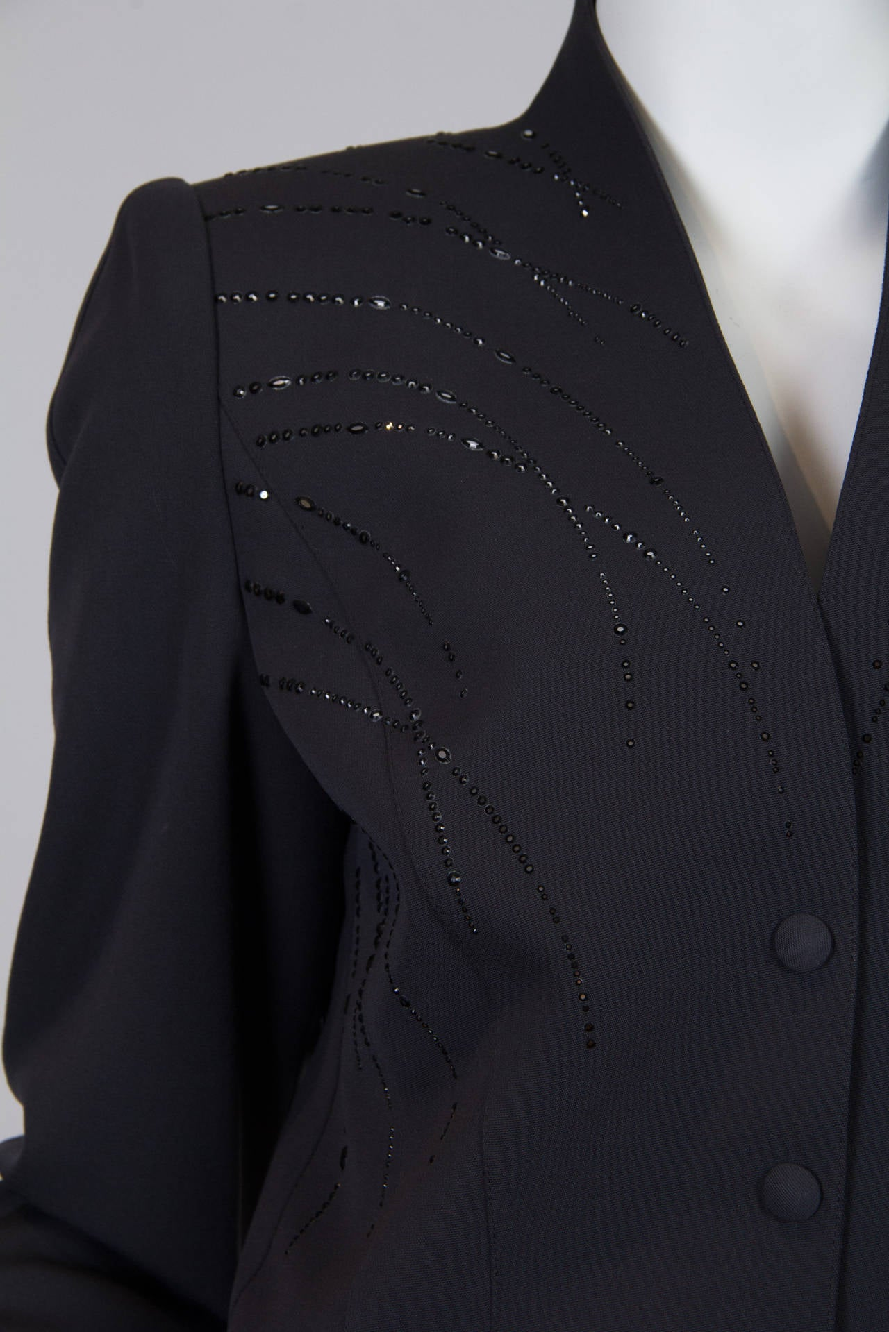 1980s Thierry Mugler Jacket with Crystals In Excellent Condition For Sale In New York, NY