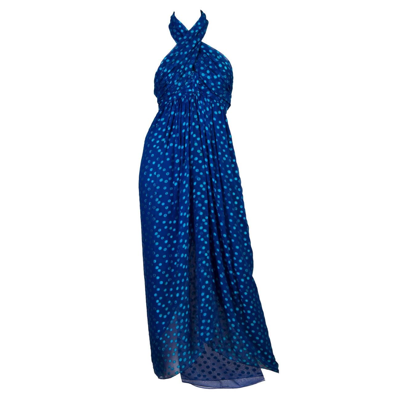 1970s Oscar de la Renta Chiffon Dress