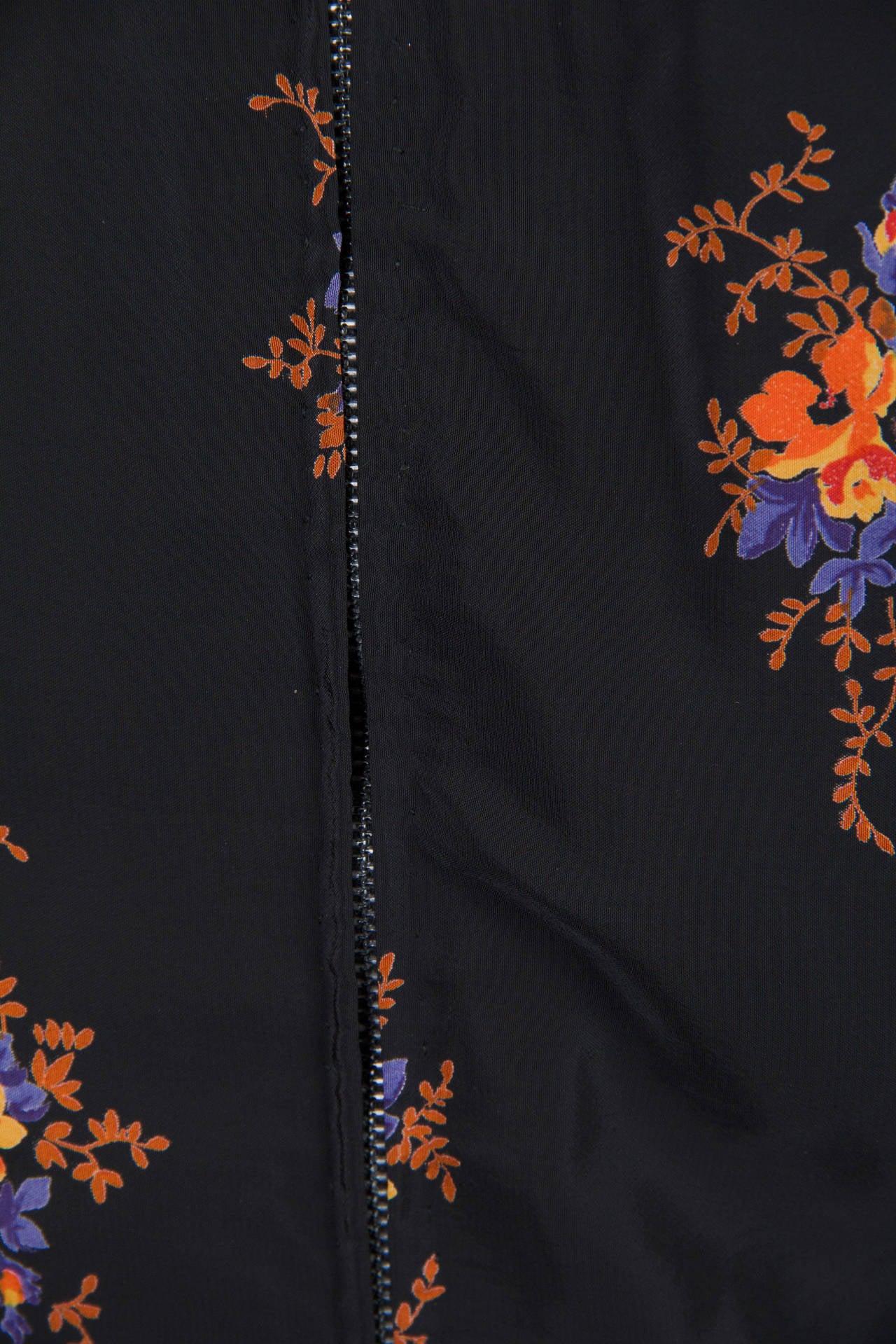 Valentino 1970s Nouveau Victorian Floral Dress 5