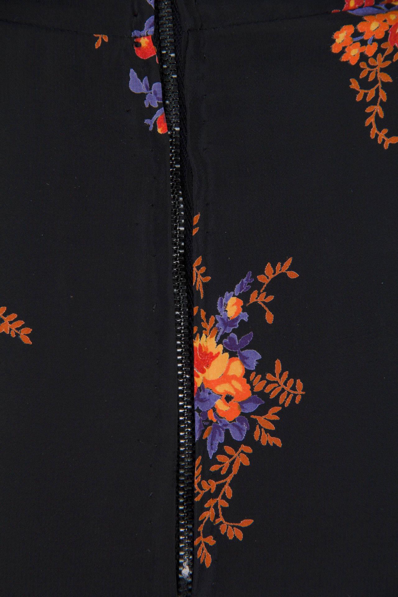 Valentino 1970s Nouveau Victorian Floral Dress 6