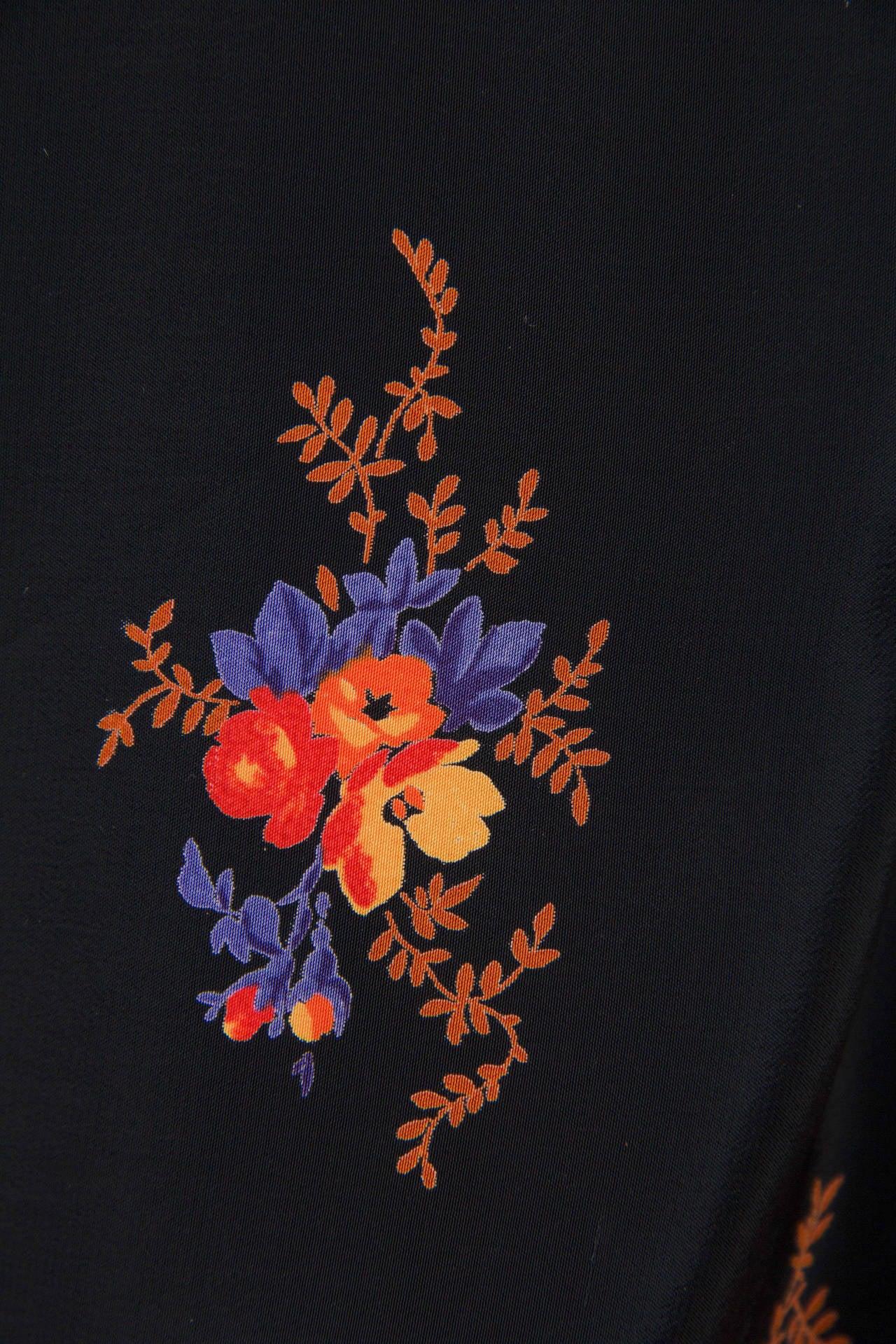 Valentino 1970s Nouveau Victorian Floral Dress 7