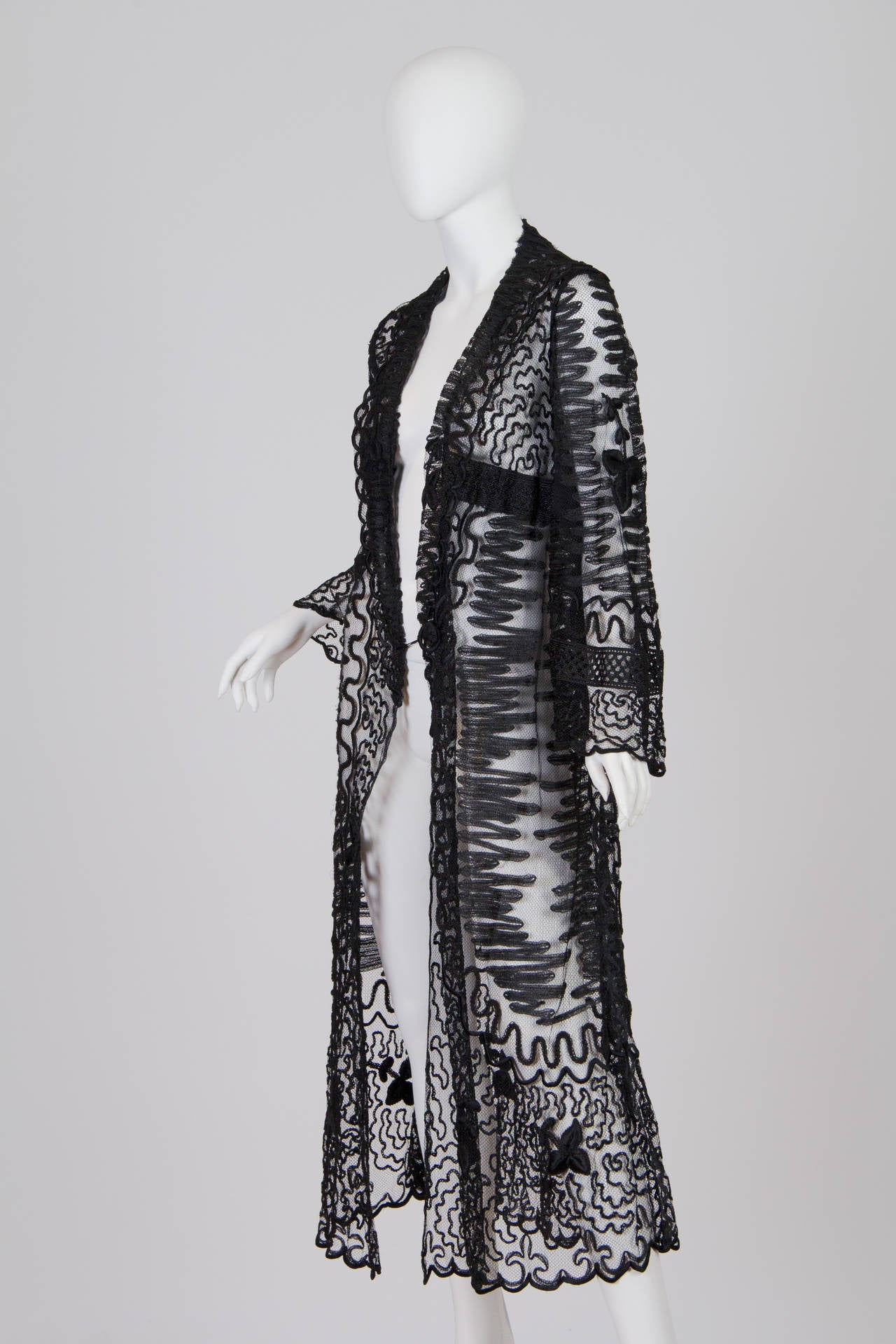 Edwardian Embroidered Soutash Net Duster 2