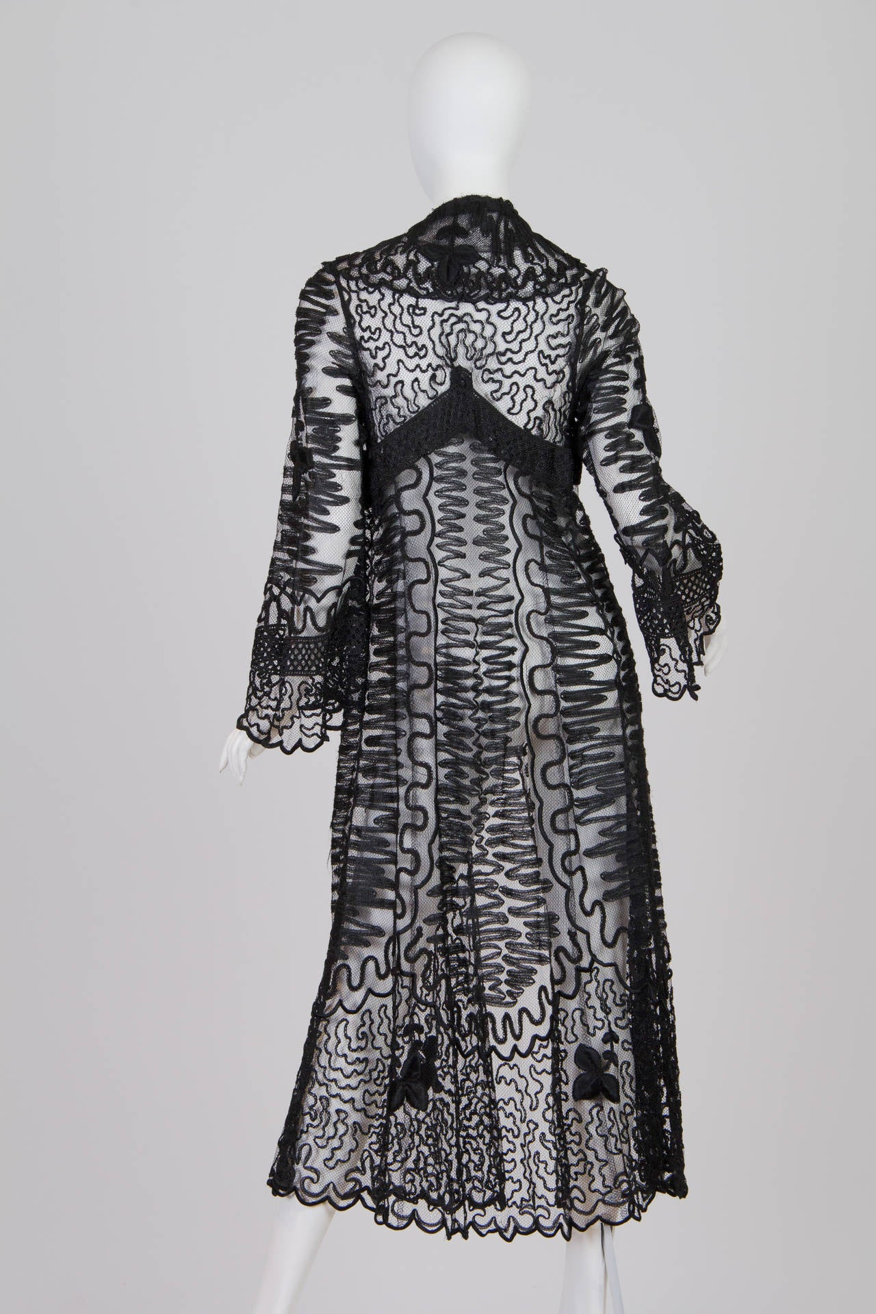 Edwardian Embroidered Soutash Net Duster 3