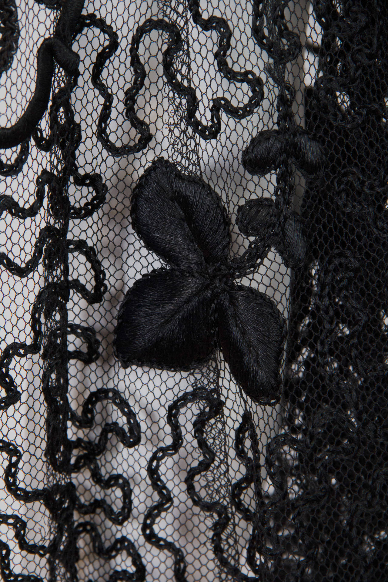 Edwardian Embroidered Soutash Net Duster 6