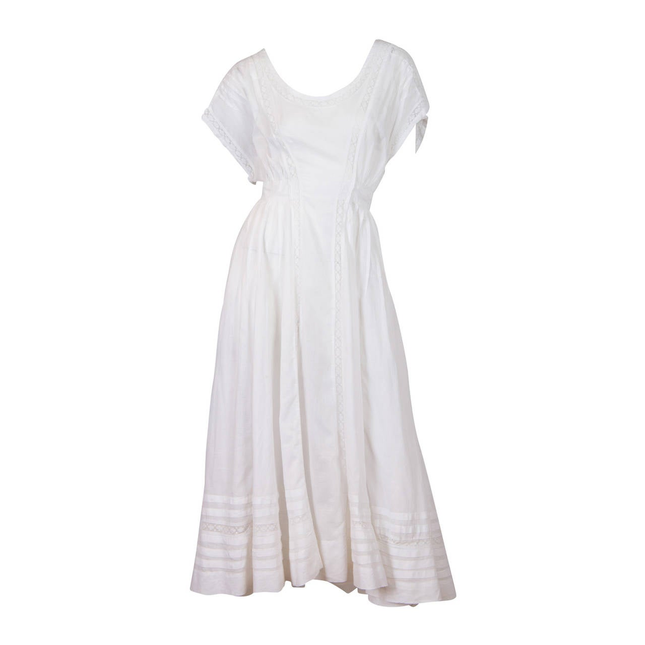 Edwardian Cotton Batiste and Lace Dress 1