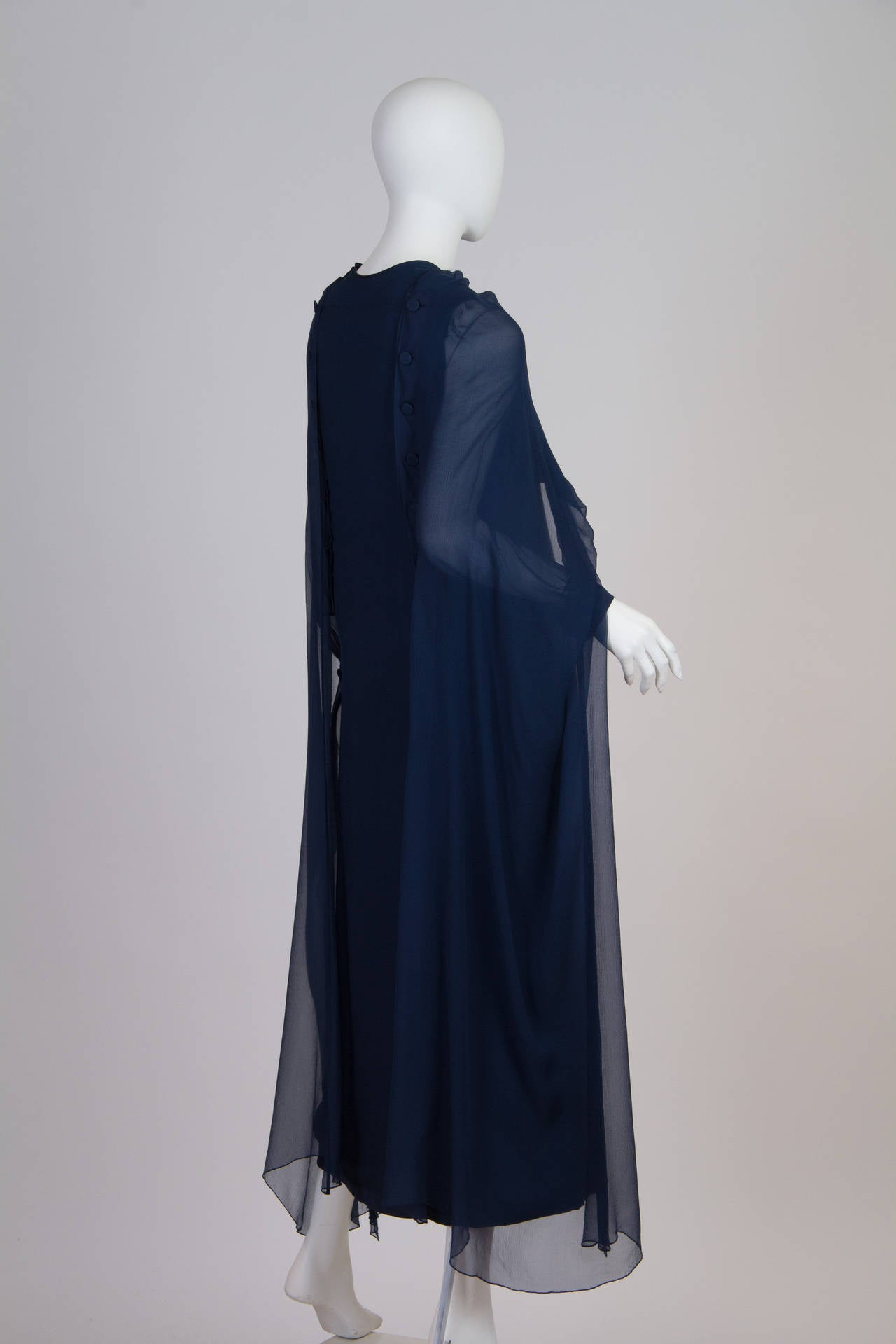 1960s Balmain Haute Couture Gown For Sale 2
