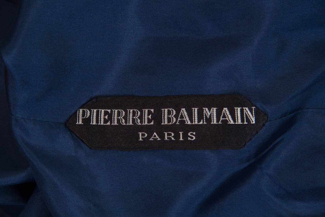 1960s Balmain Haute Couture Gown For Sale 5