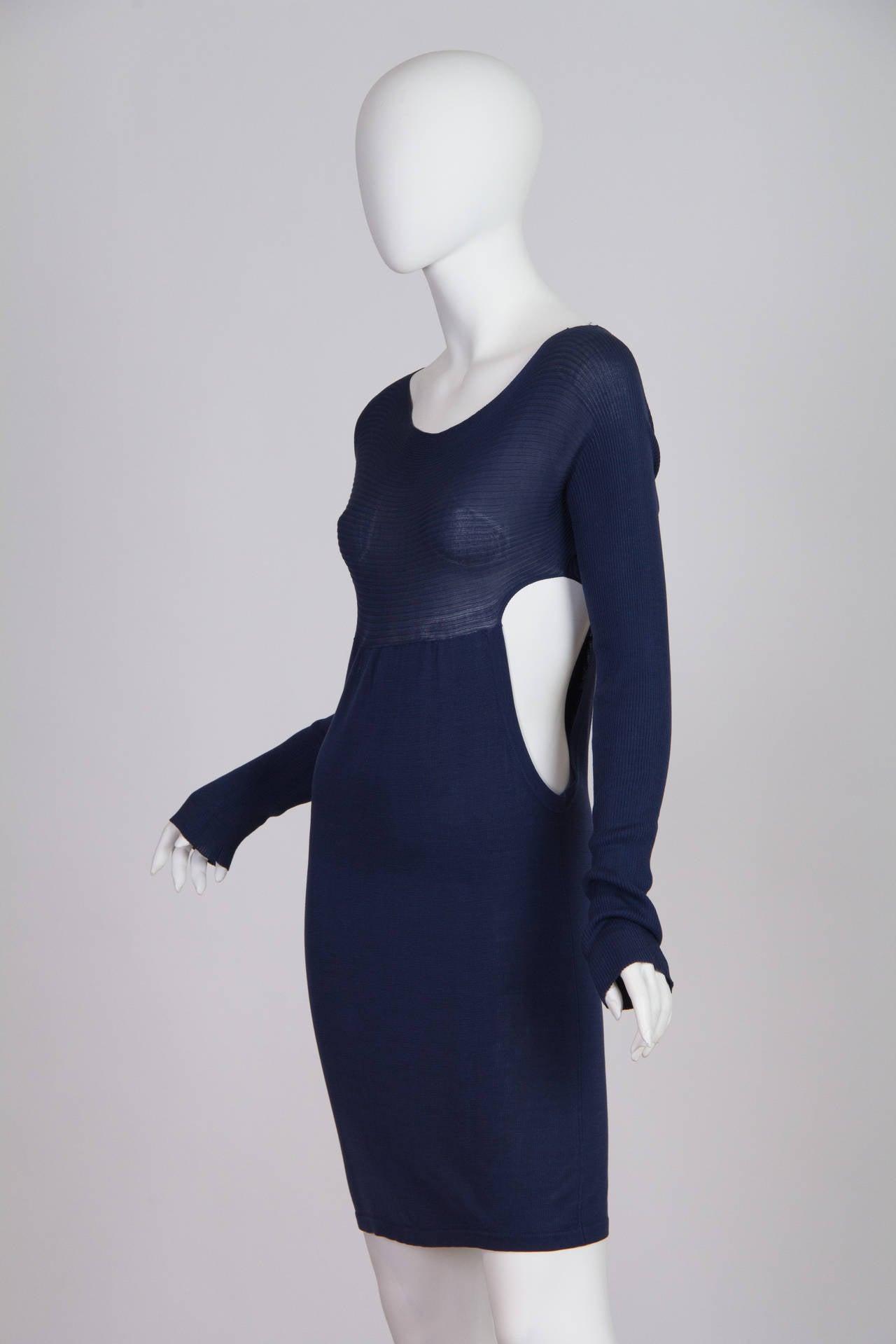 Yohji Yamamoto Side Cut-Out Dress 6