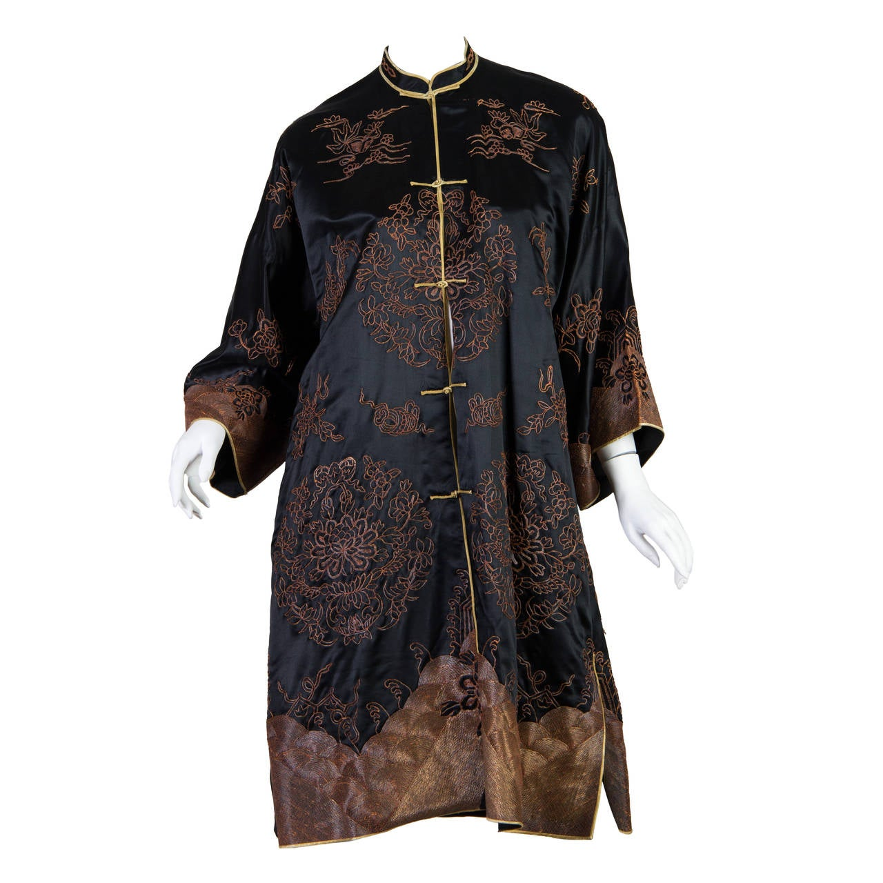 Early Chinese Embroidered Jacket Kimono style 1