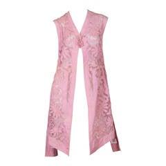 Edwardian cotton applique on cotton net vest