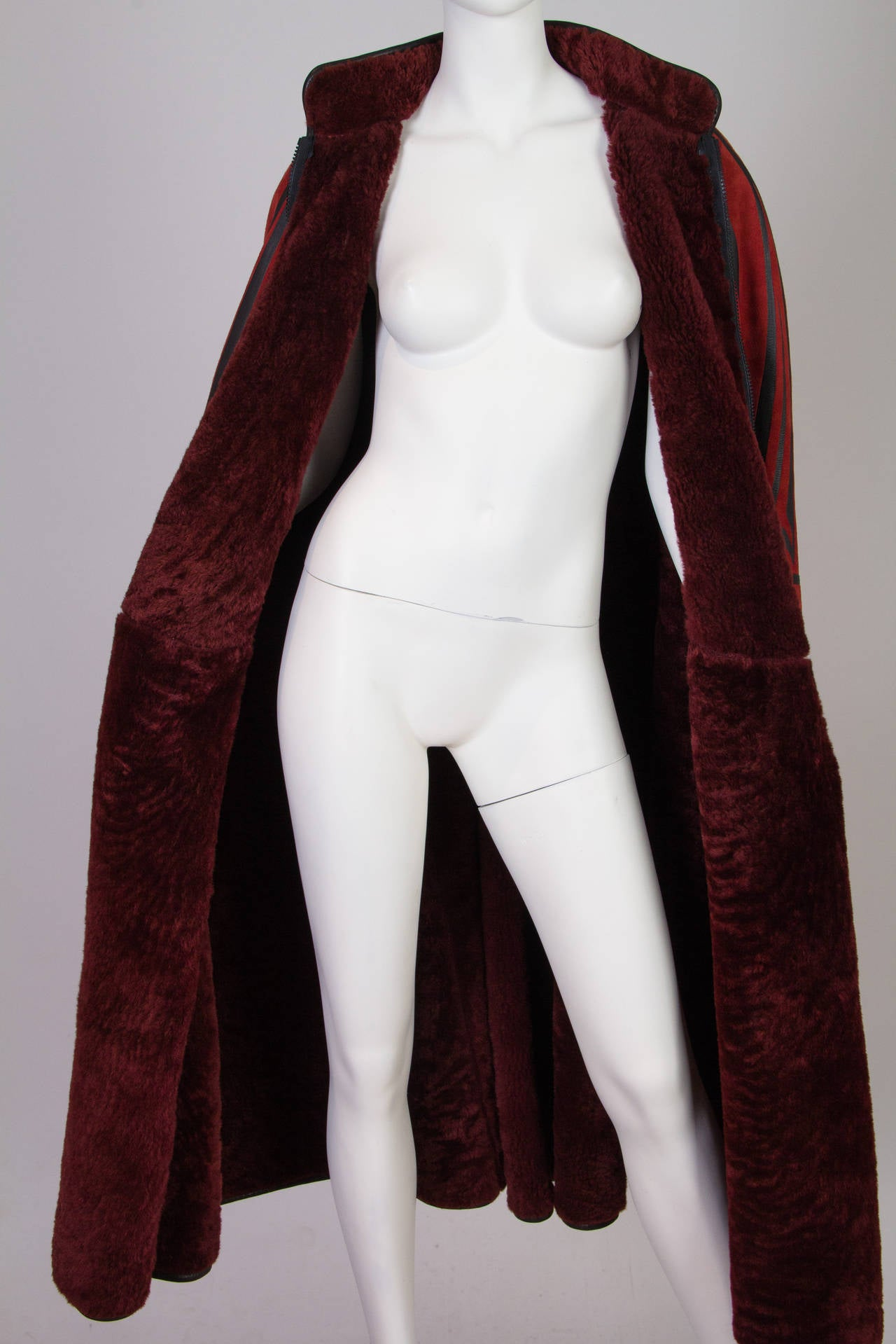 Inuit Native American Inspired Shearling Cape For Sale 3