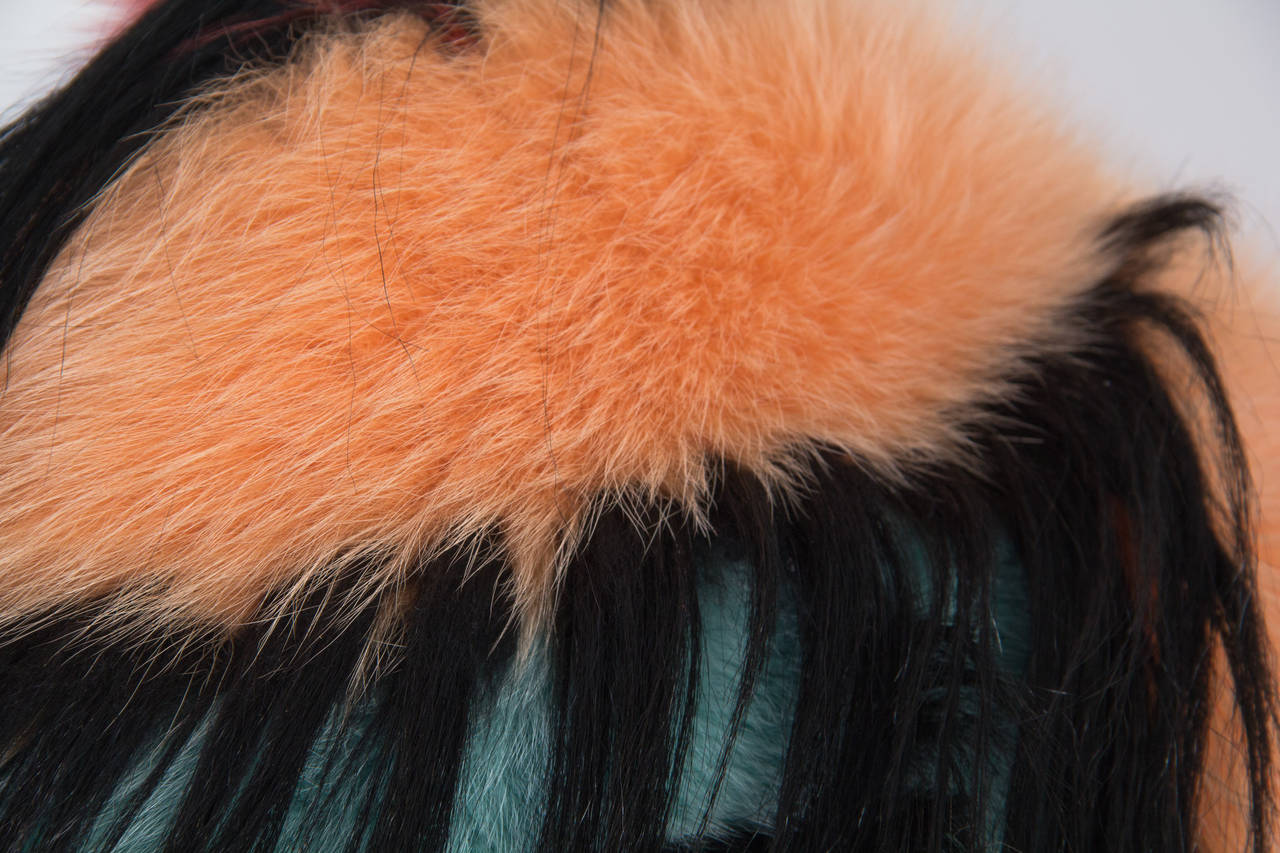 Missoni Fox and Yak Fur Stole For Sale 3