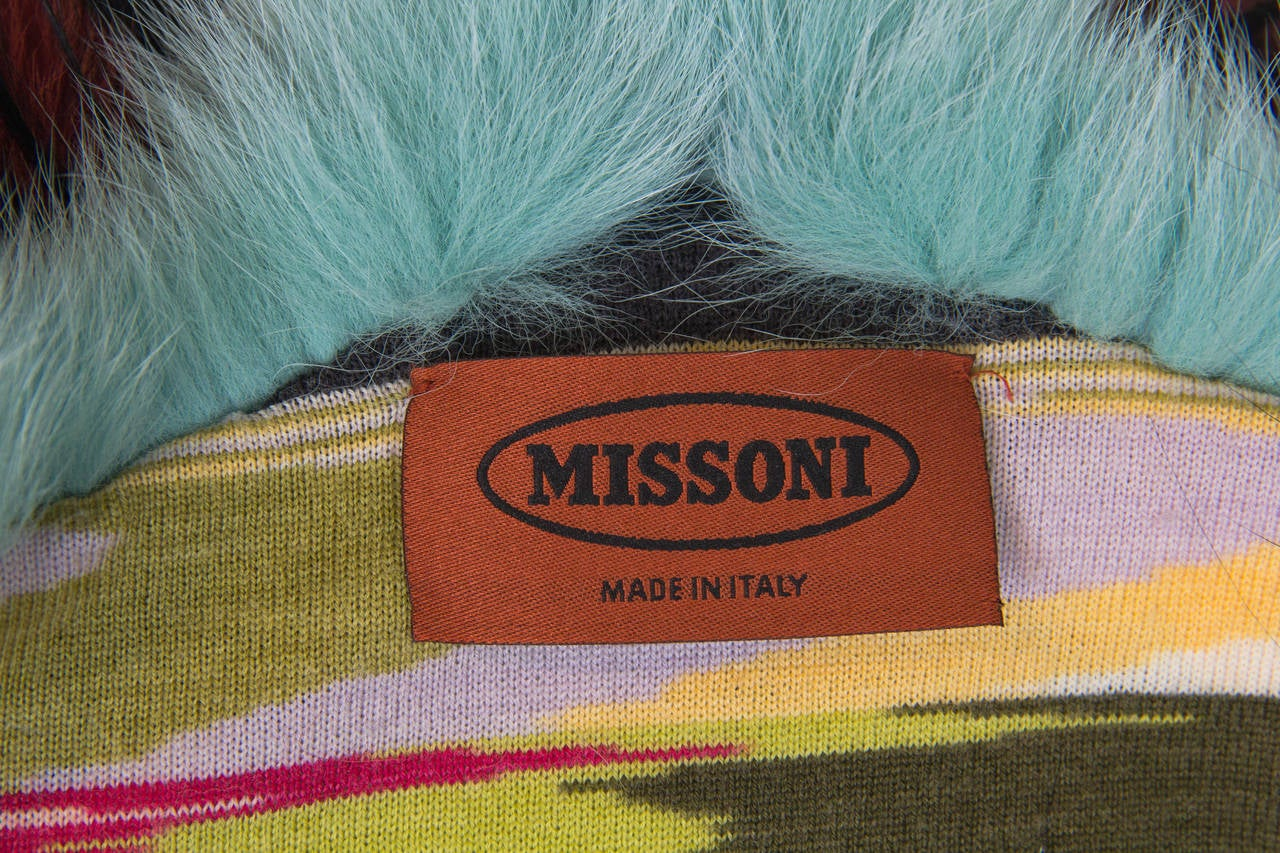 Missoni Fox and Yak Fur Stole For Sale 5