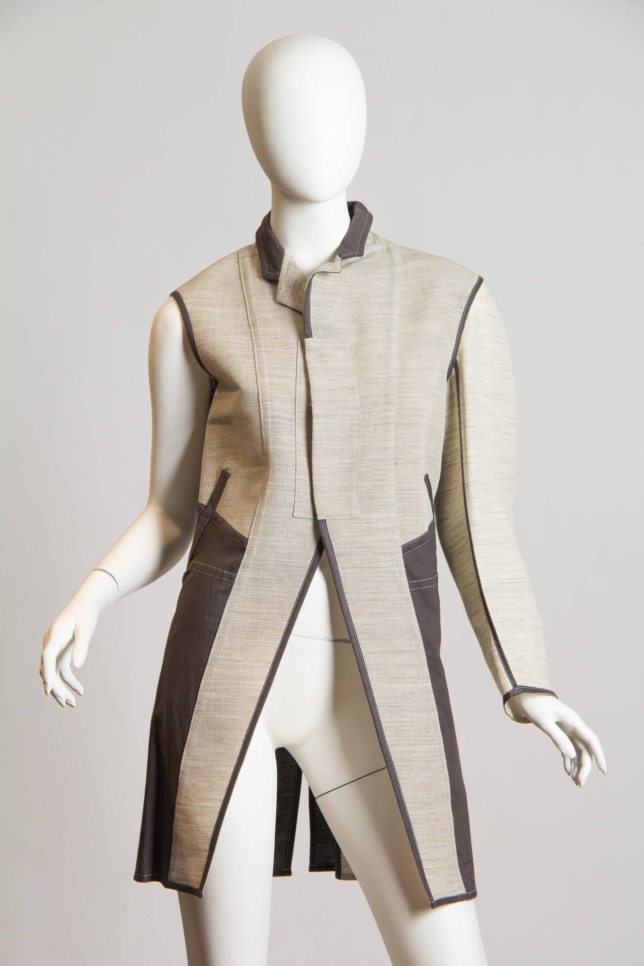 Women's 1998 Comme des Garcons Desconstructed two piece Coat For Sale