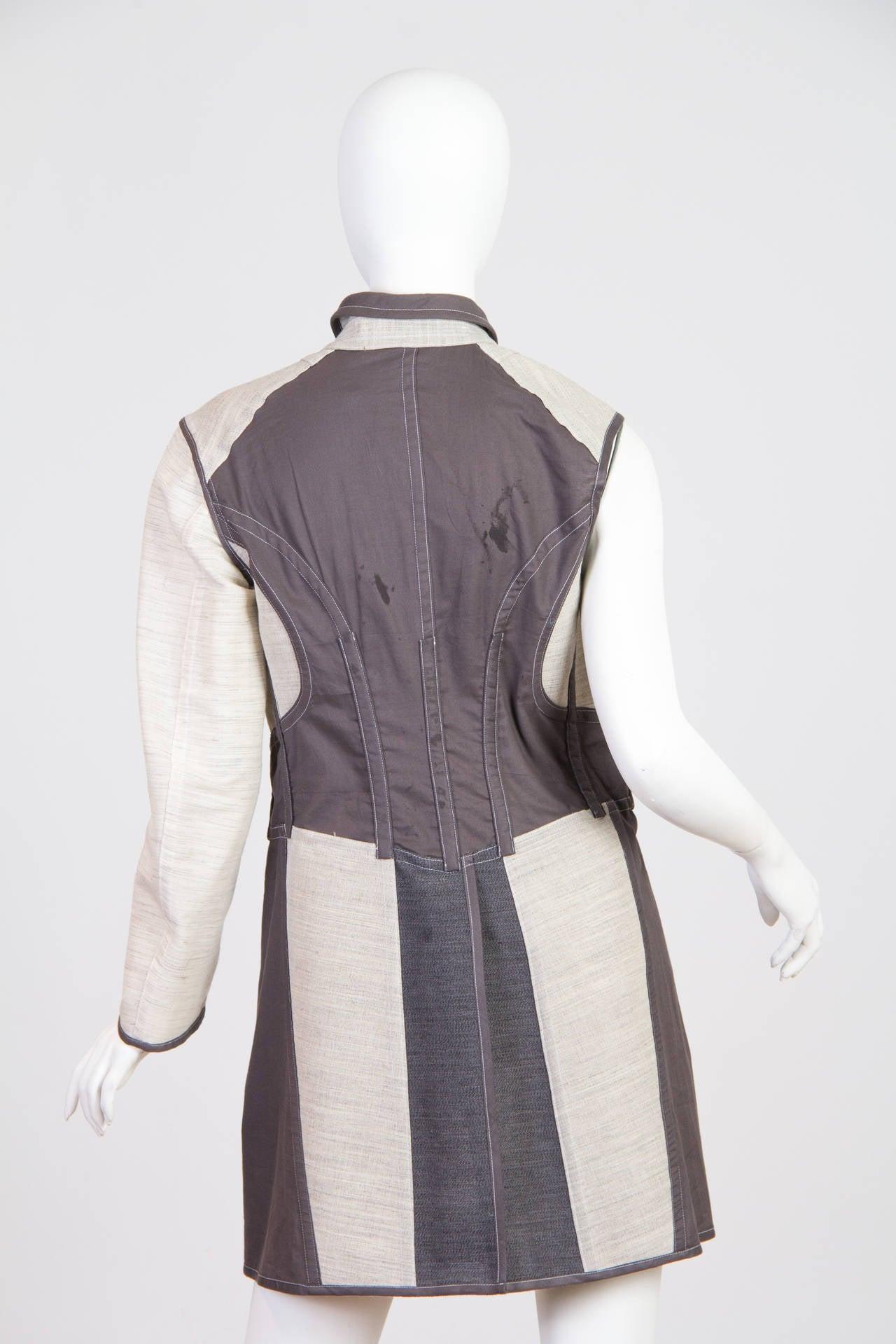 1998 Comme des Garcons Desconstructed two piece Coat For Sale 2