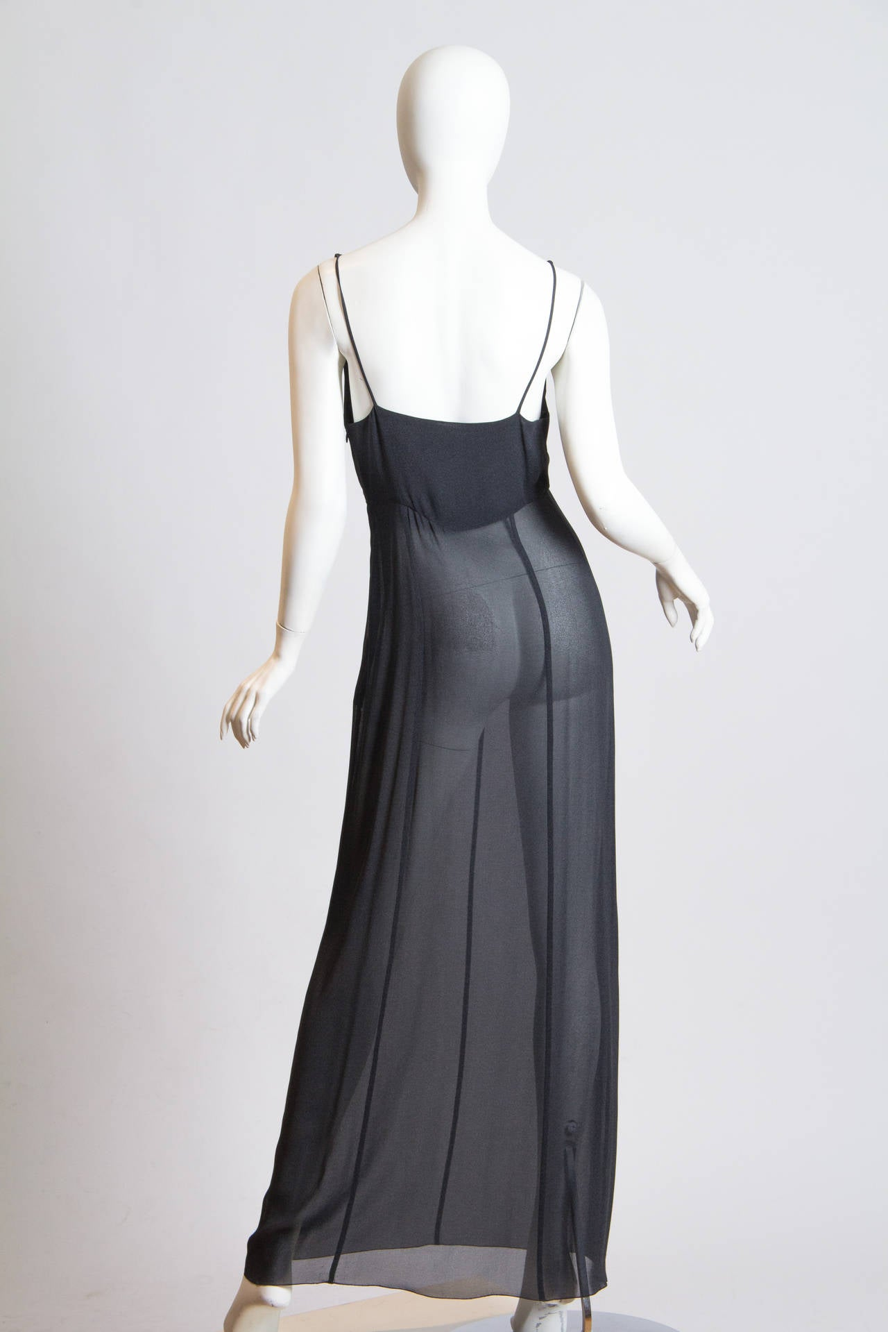 Women's Slate Grey Crepe Dress from Chanel For Sale