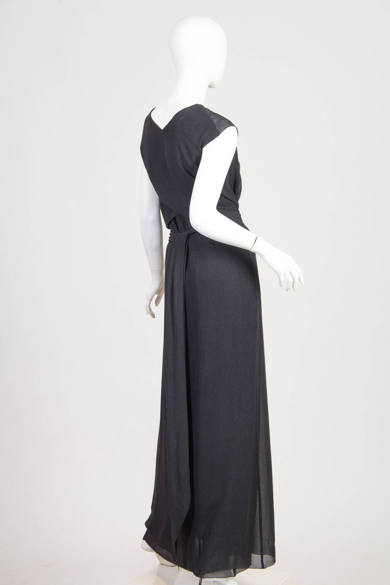 Slate Grey Crepe Dress from Chanel 2