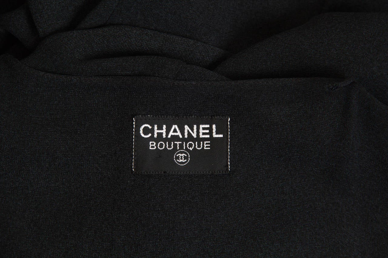 Slate Grey Crepe Dress from Chanel For Sale 5