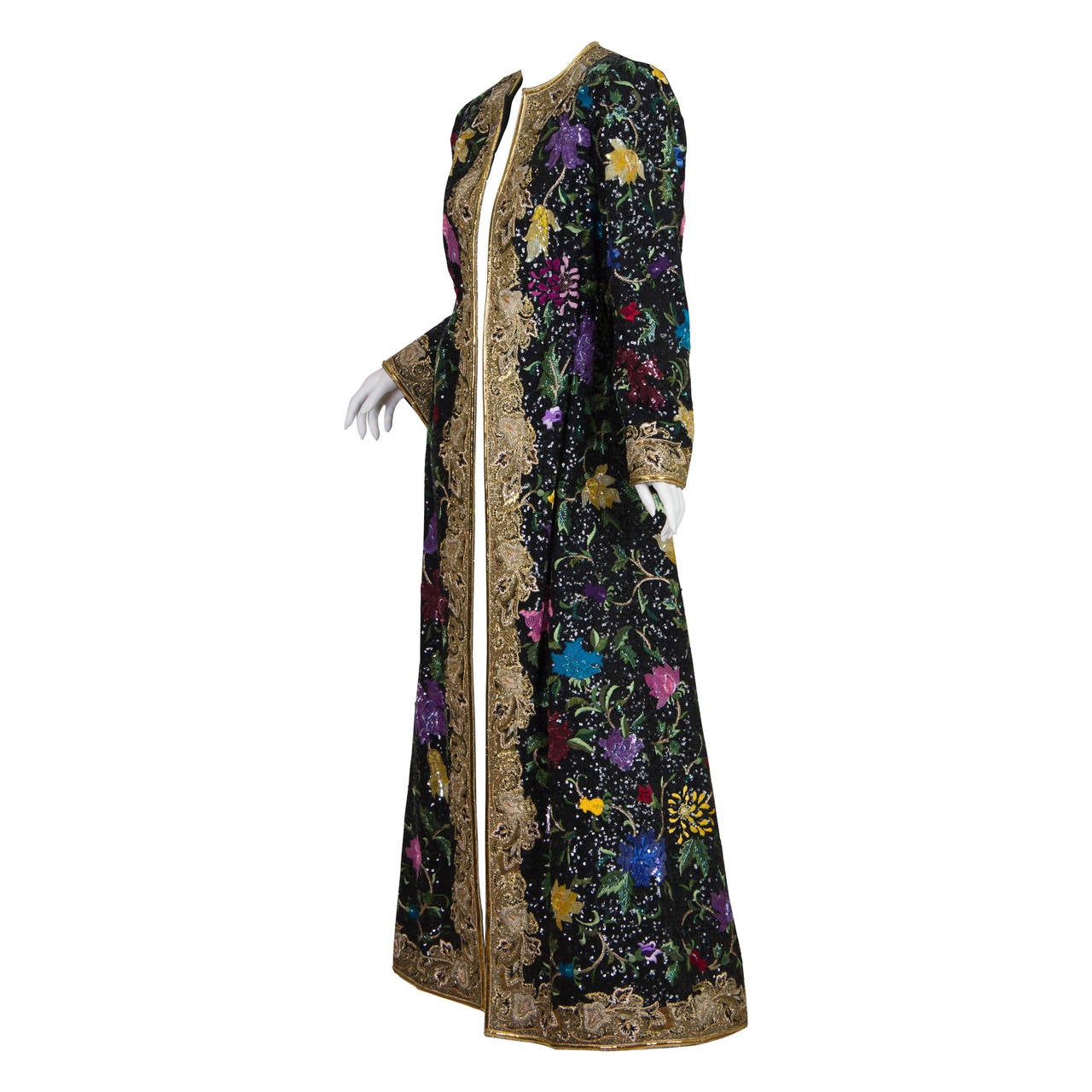 One of a kind Michael Novarese Embroidered Kaftan Coat
