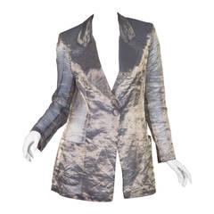 1990s Sheer Krizia Crinkle Lamé Jacket