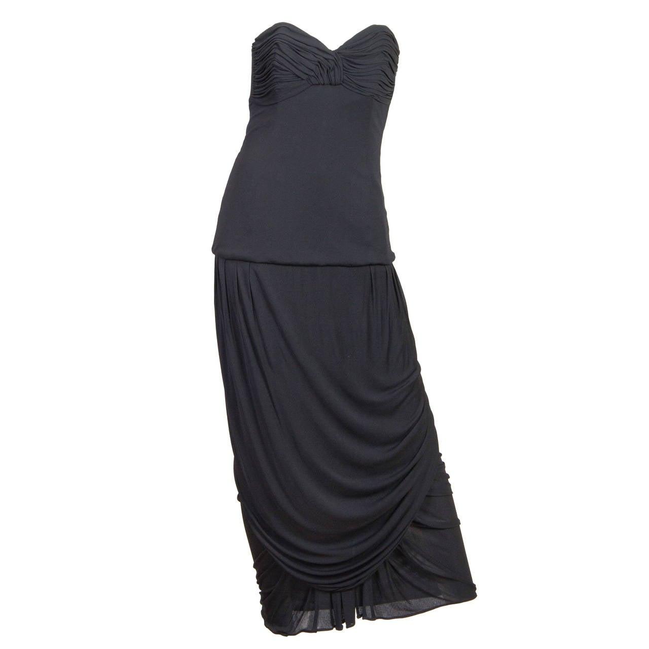 Karl Lagerfeld Silk Jersey Strapless Gown