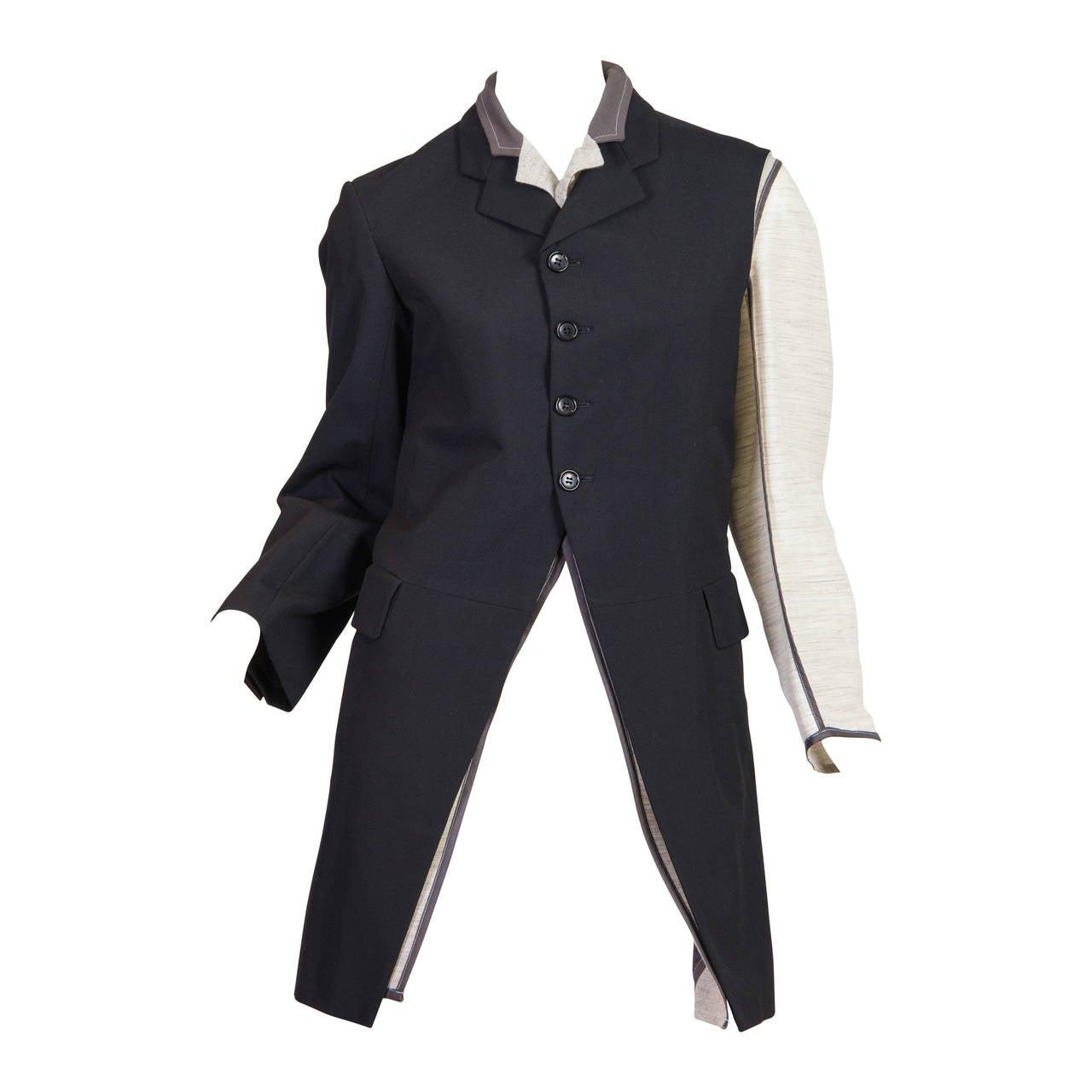 1998 Comme des Garcons Desconstructed two piece Coat For Sale