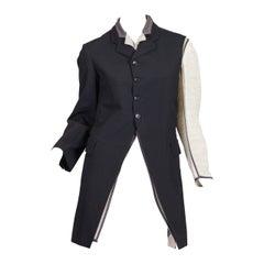 1990S REI KAWAKUBO COMME DES GARCONS Black Wool Two Piece Deconstructed Victori