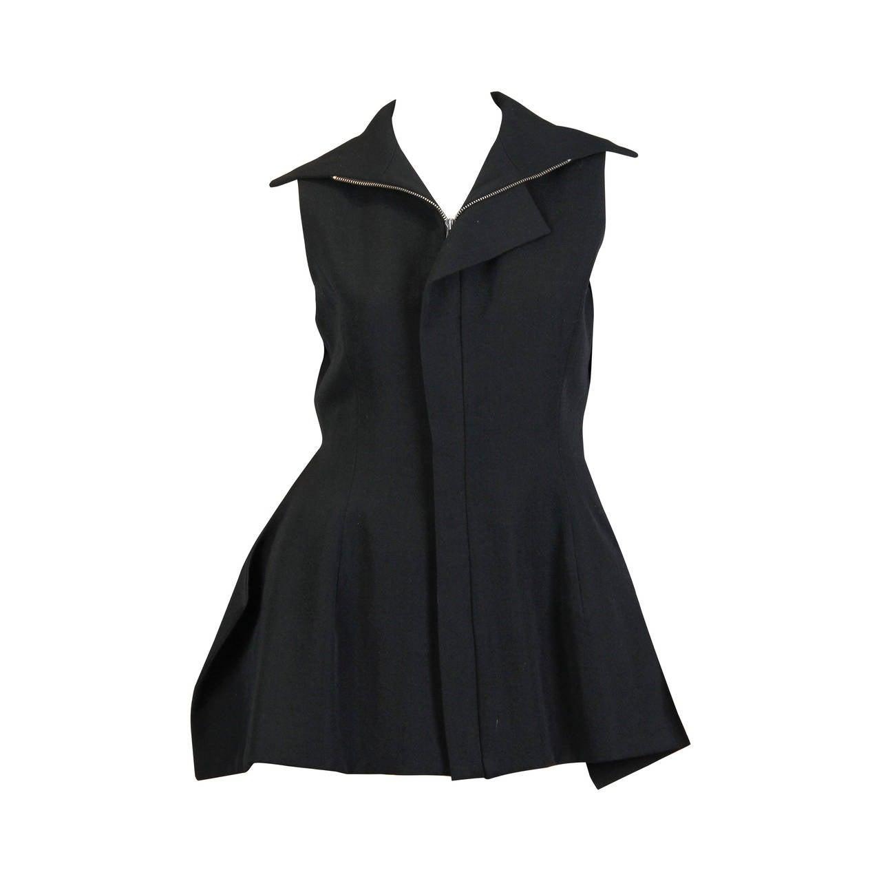 Yohji Yamamoto Backless Deconstructed Vest
