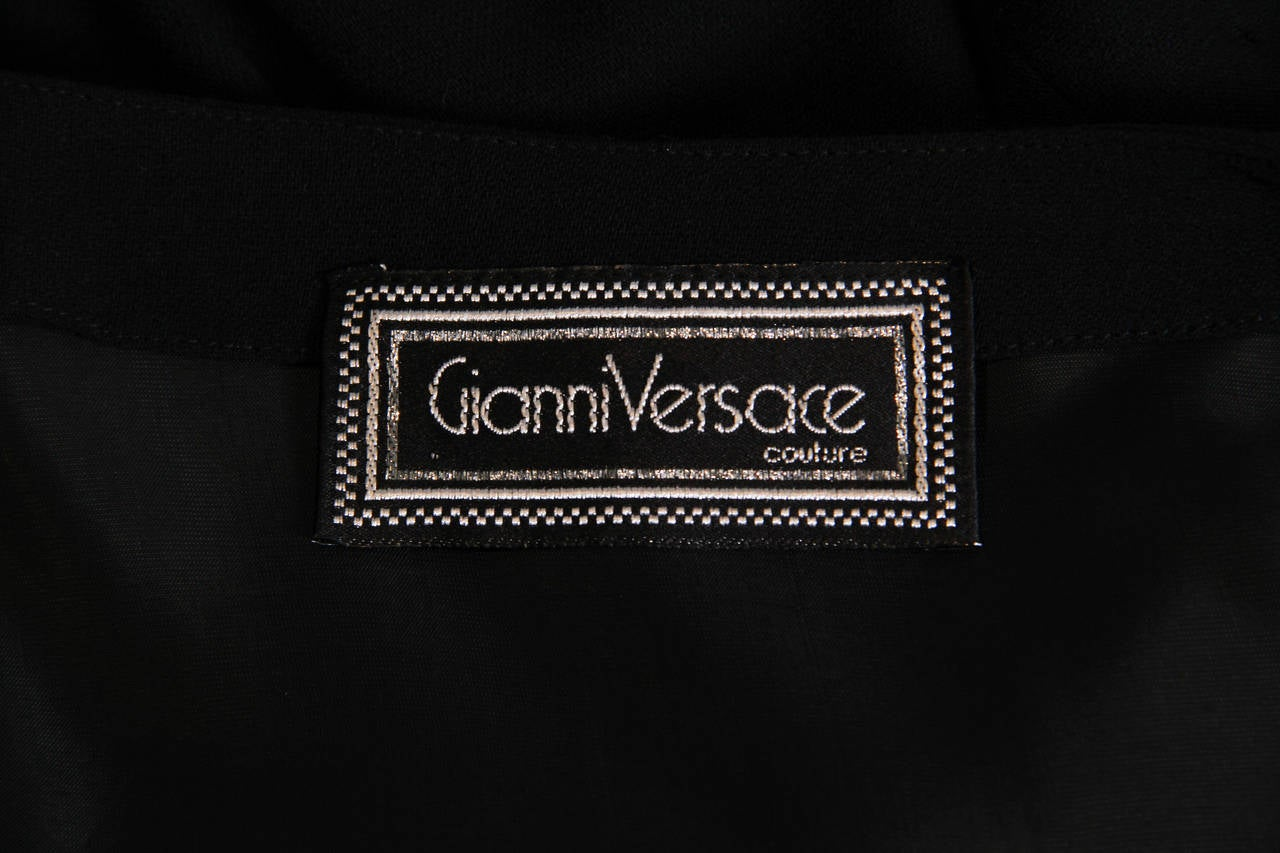 Gianni Versace Couture hand draped and finished dress For Sale 5