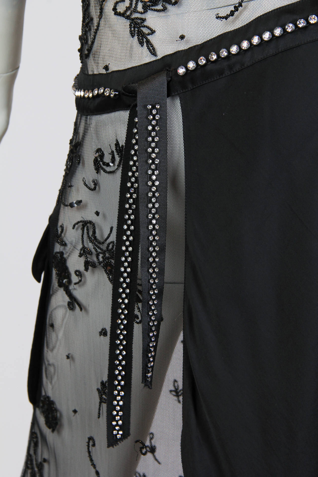 Women's Deconstructed Moschino Asymmetrical Beaded Dress For Sale